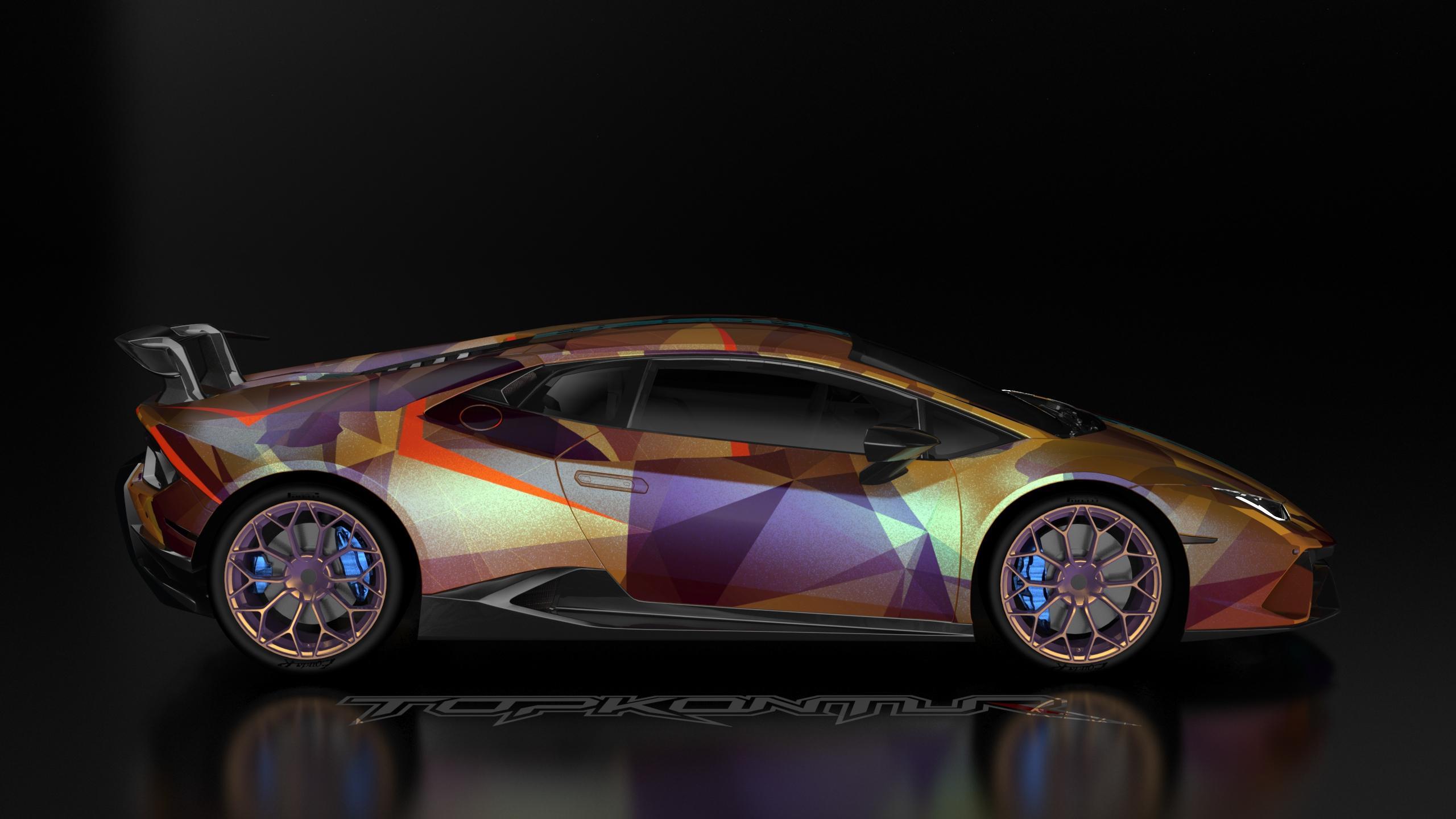 Gold And Wine Lamborghini Huracan Car, HD Cars, 4k ...
