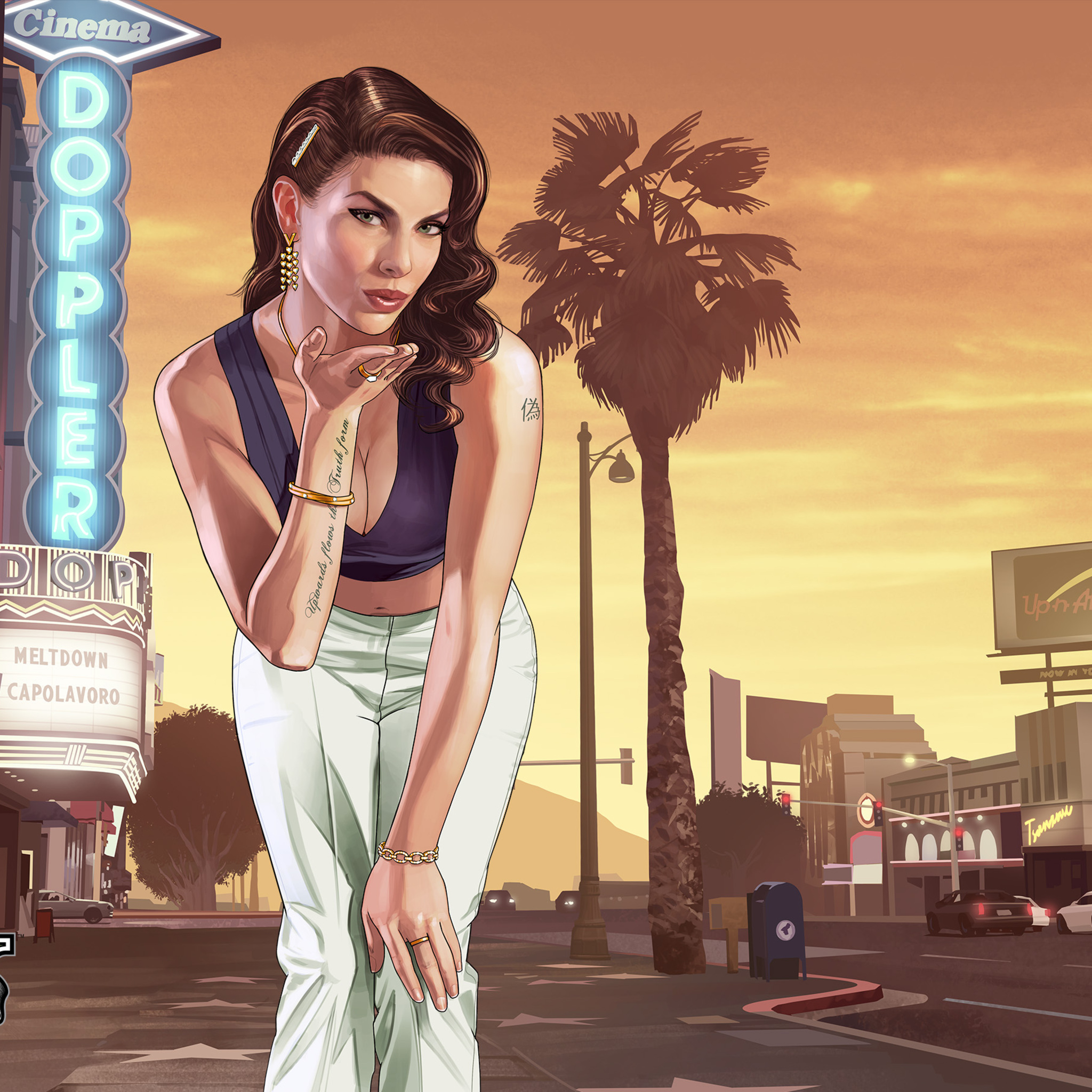 2048x2048 Gta 5 Loading Girl Ipad Air HD 4k Wallpapers
