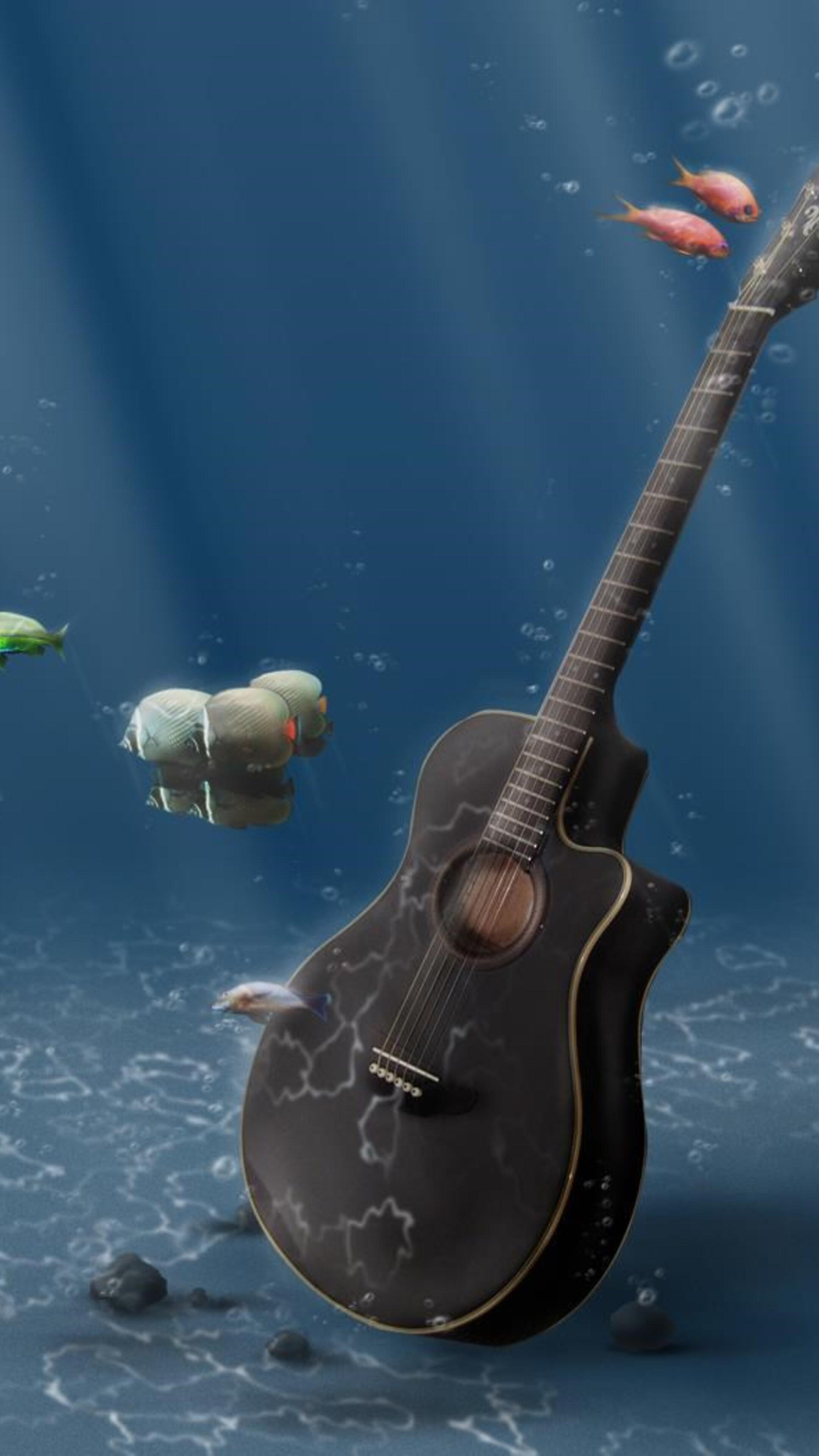 2160x3840 guitar digital art sony xperia x xz z5 premium - Art wallpaper 2160x3840 ...