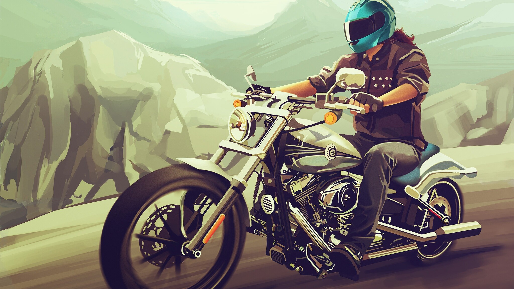 Download Harley Davidson 883 2048 X 2048 Wallpapers: 2048x1152 Harley Davidson Fan Art 2048x1152 Resolution HD