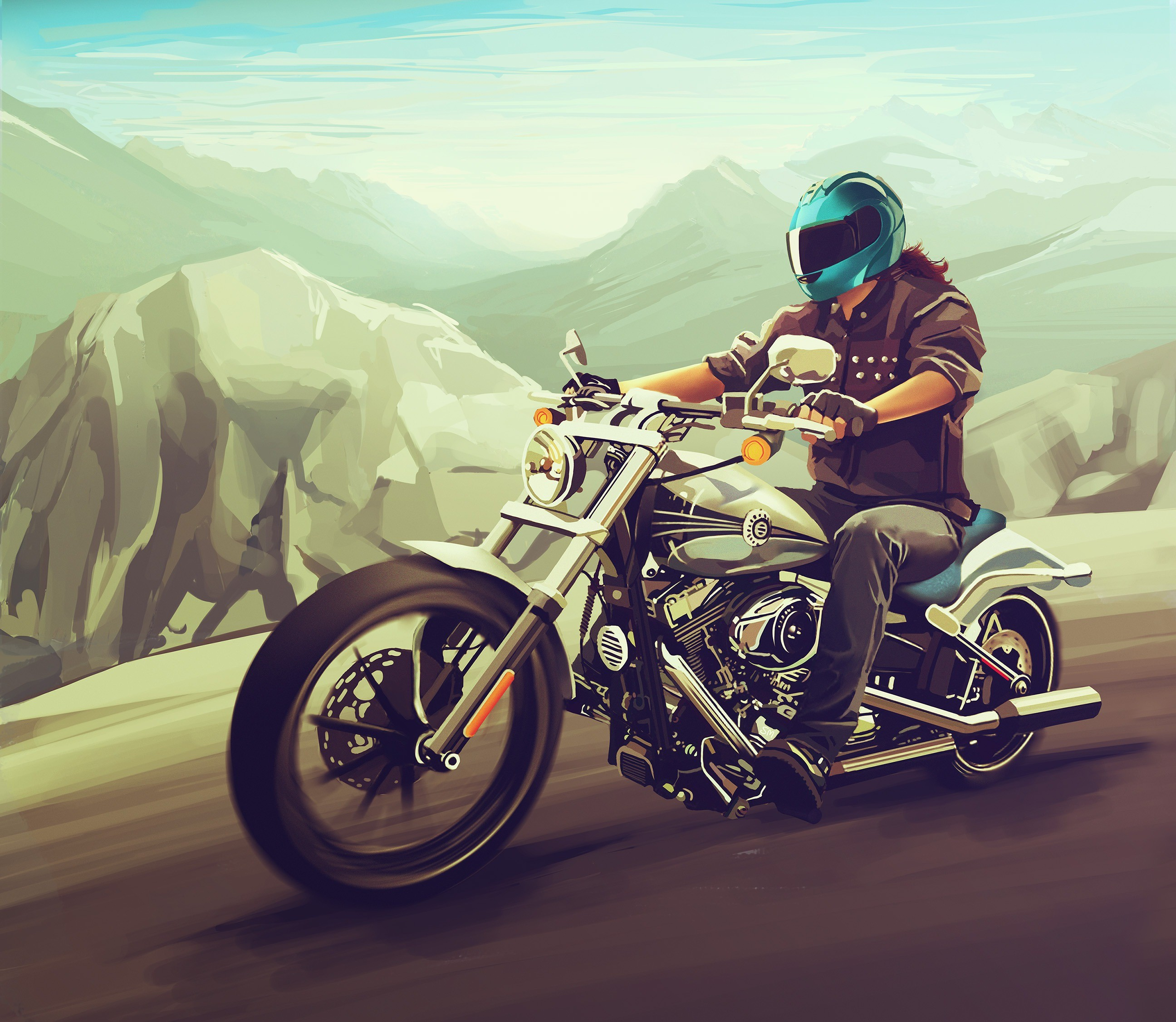 2048x1152 Harley Davidson Fan Art 2048x1152 Resolution HD