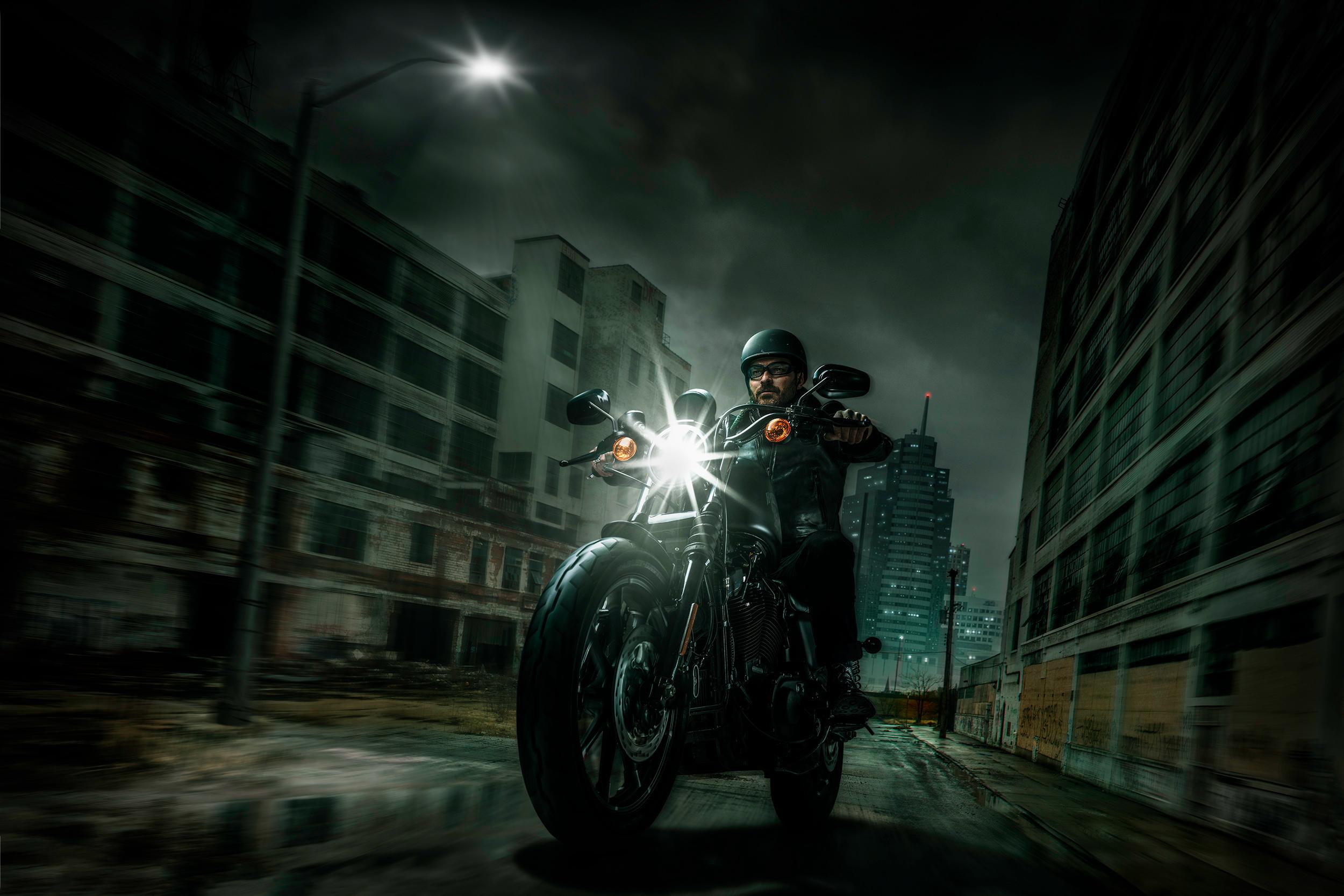 Harley Davidson Night Riders, HD Bikes, 4k Wallpapers