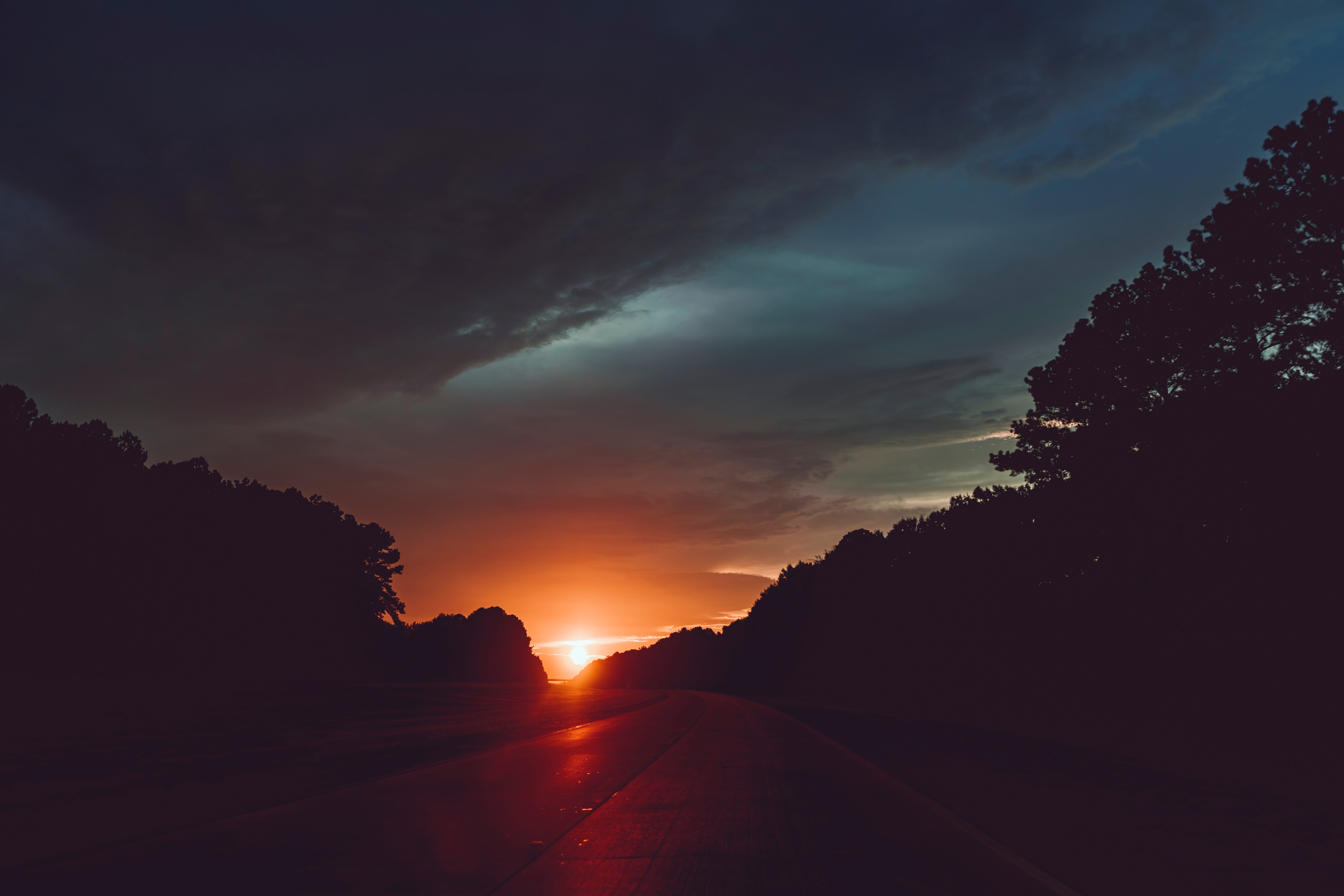 Highway sunset 5k hd nature 4k wallpapers images - Wallpapers 1280x800 nature ...