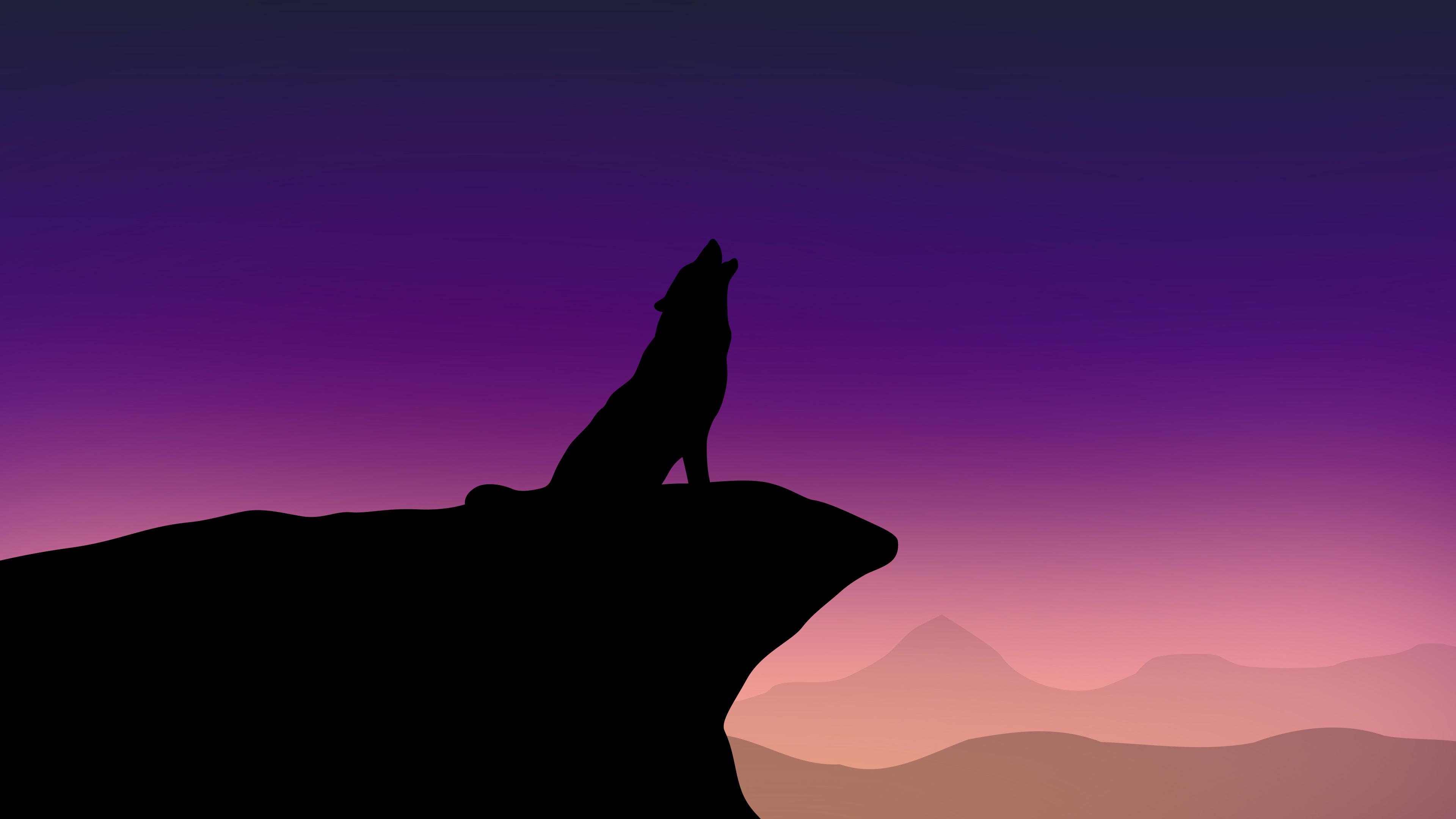 Sasuke Minimalista Fondo: Howling Wolf Minimalism 4k, HD Artist, 4k Wallpapers