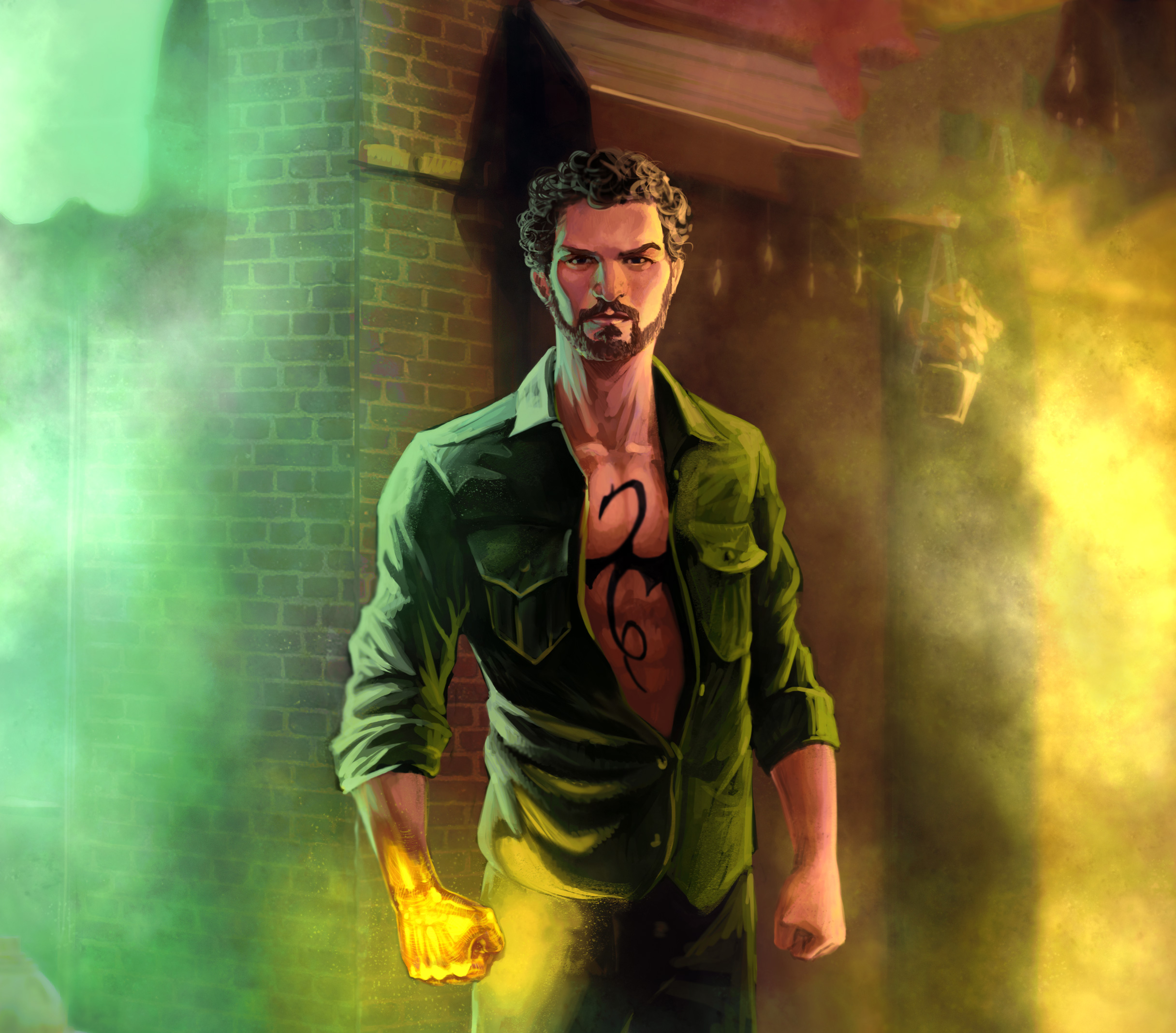 Iron fist in the defenders artwork hd tv shows 4k - Tv series wallpaper 4k ...