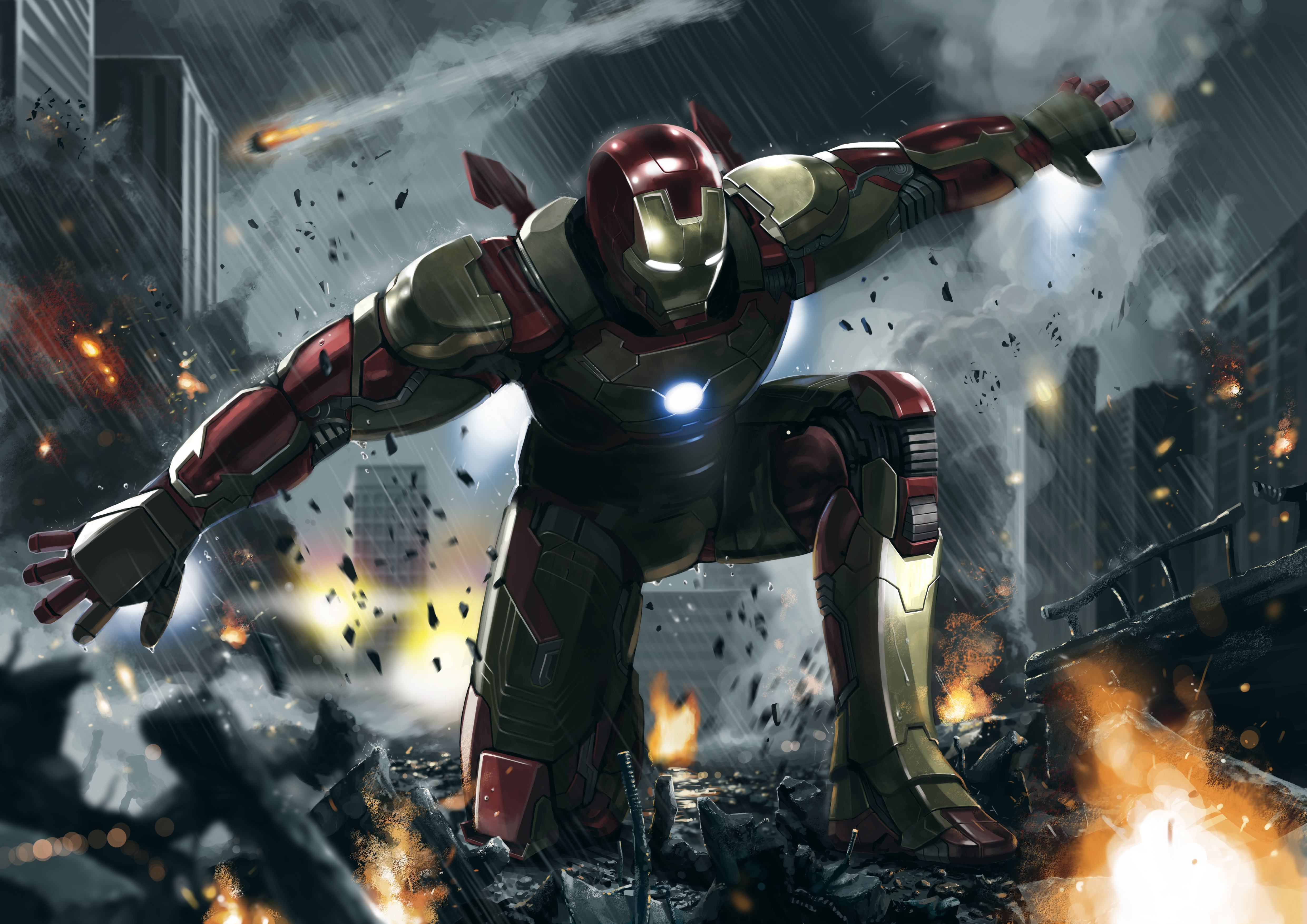 Iron man 3 art 4k hd superheroes 4k wallpapers images backgrounds photos and pictures - Iron man wallpaper 4k ...