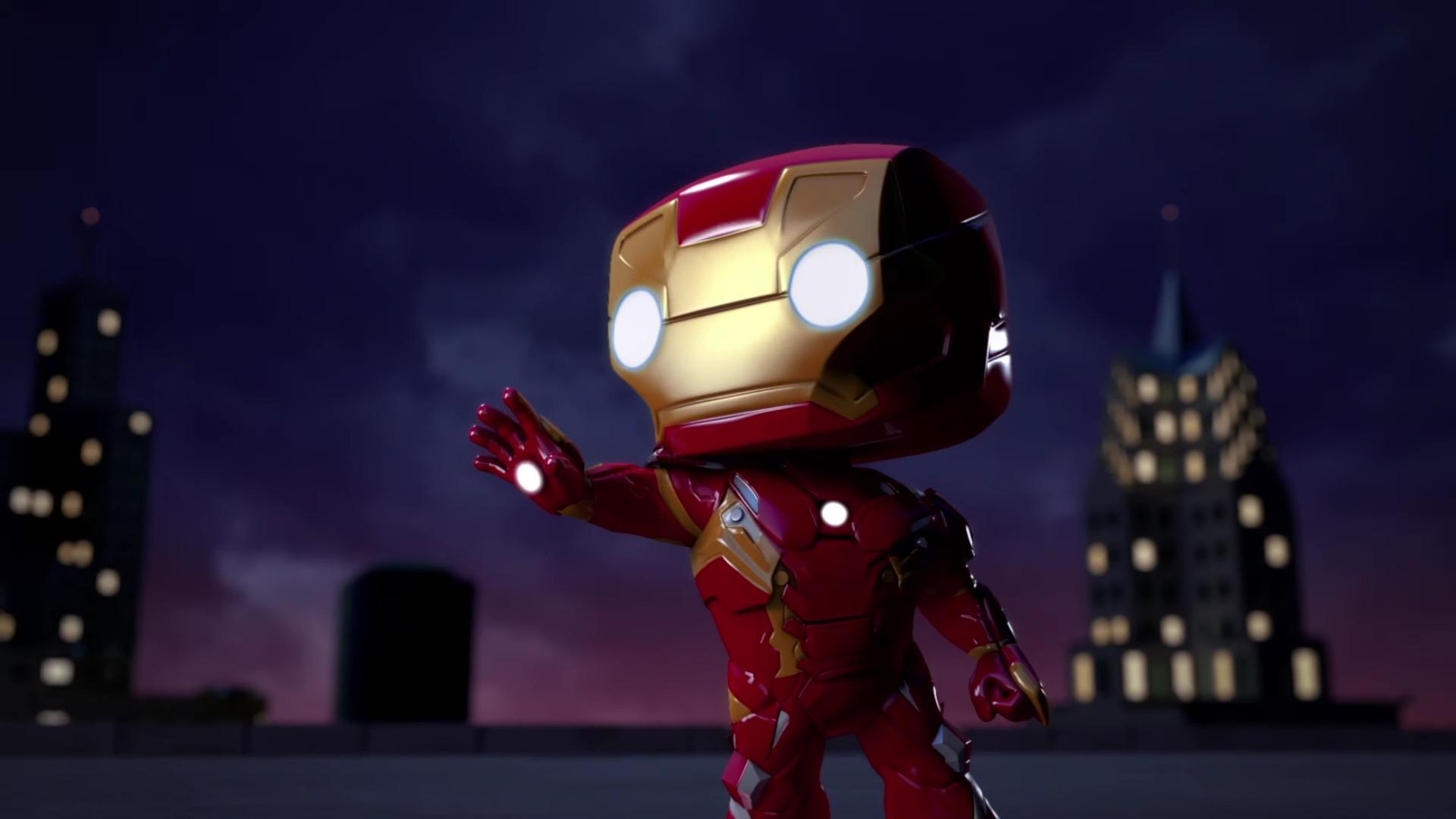 2048x2048 iron man spellbound animated movie ipad air hd - Iron man cartoon download ...
