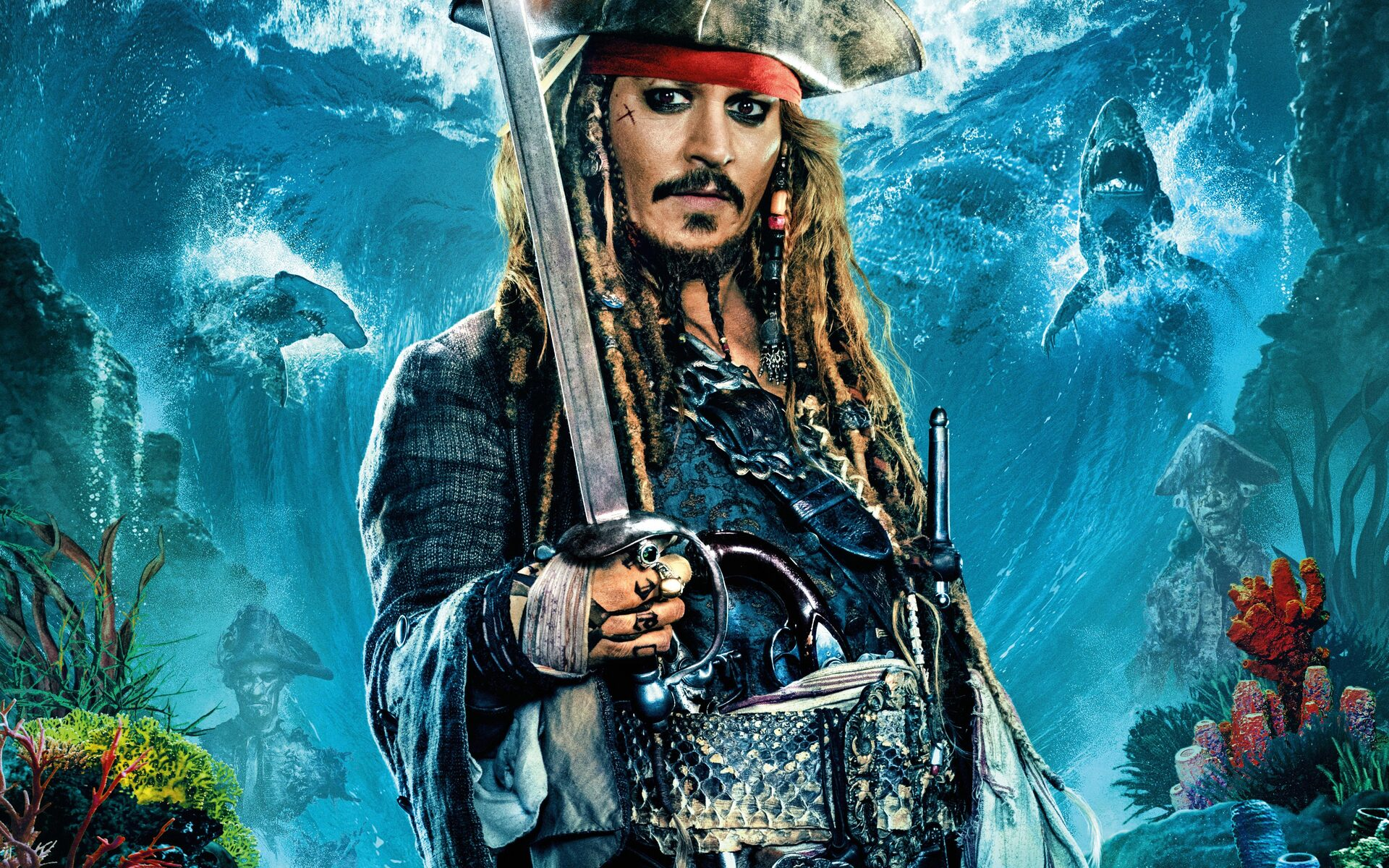 1920x1200 Jack Sparrow In Pirates Of The Caribbean Dead