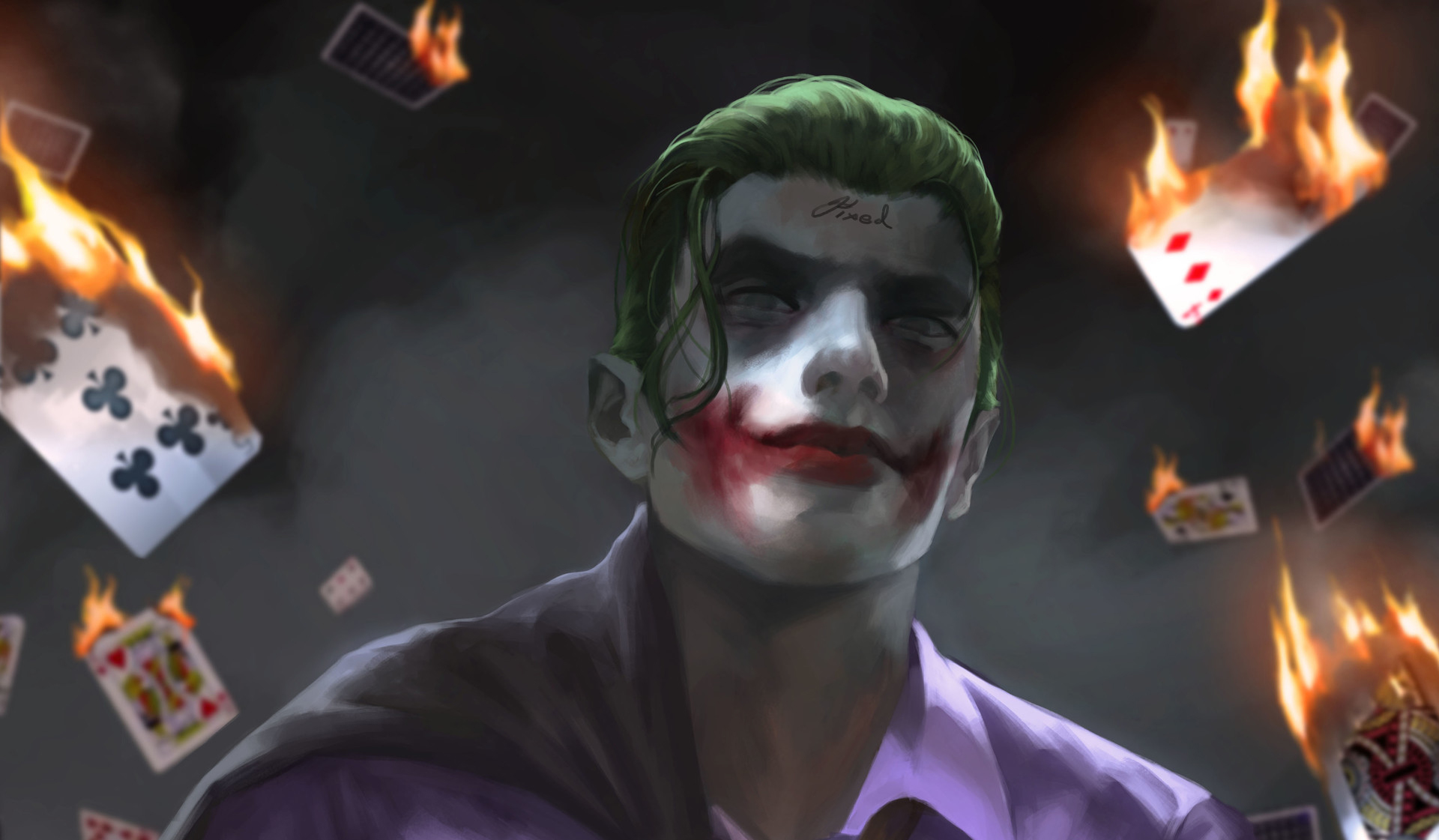 Joker artwork hd hd superheroes 4k wallpapers images for Joker wallpaper 4k