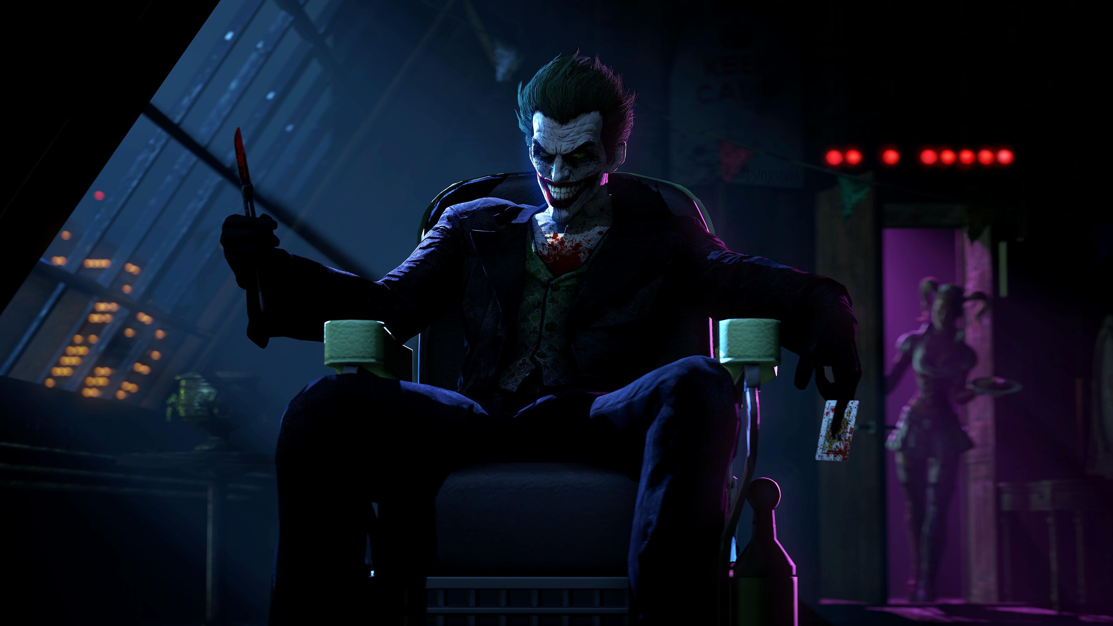 Joker in batman arkham origins hd games 4k wallpapers for Joker wallpaper 4k