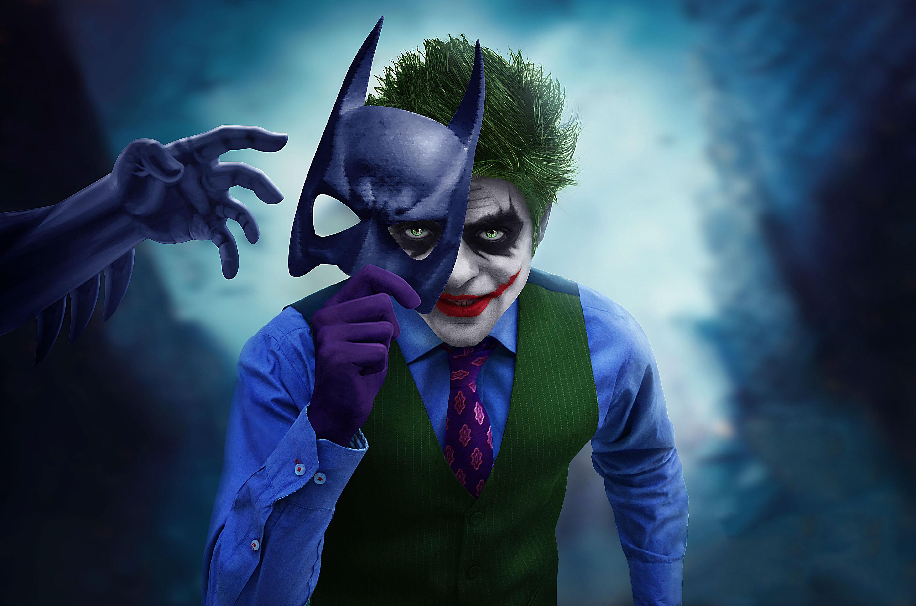 Joker With Batman Mask Off, HD Superheroes, 4k Wallpapers ...