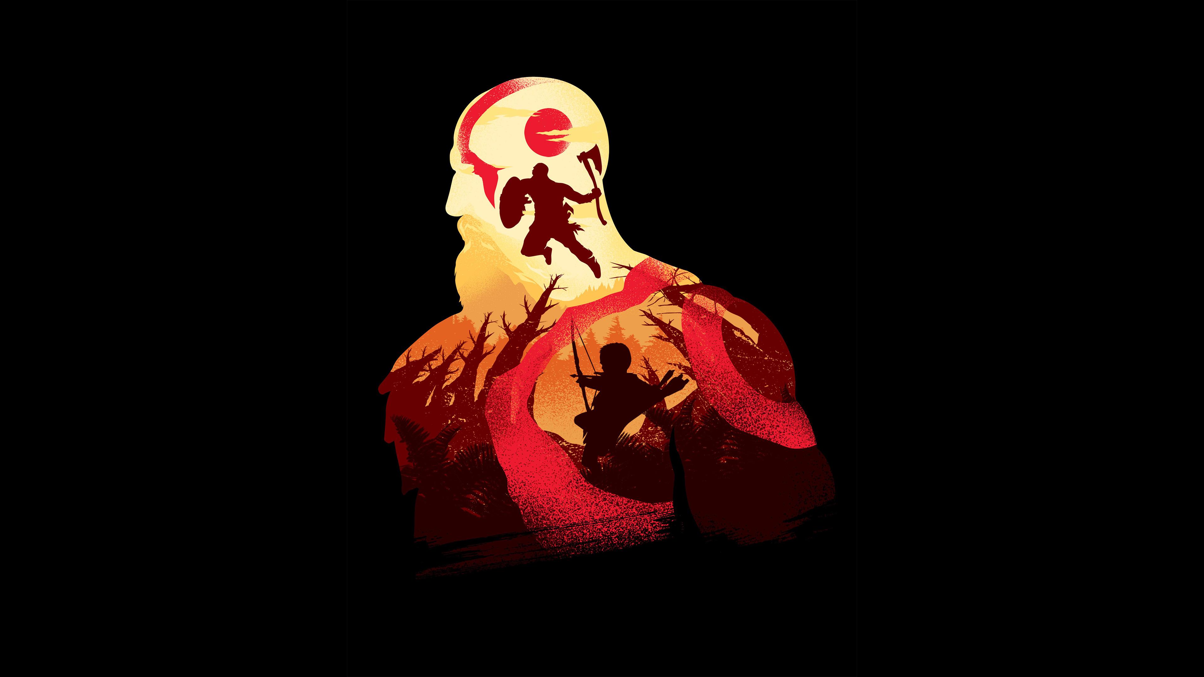 16 Luxury Pubg Wallpaper Iphone 6: 1080x1920 Kratos In God Of War 4K Minimalism Iphone 7,6s,6