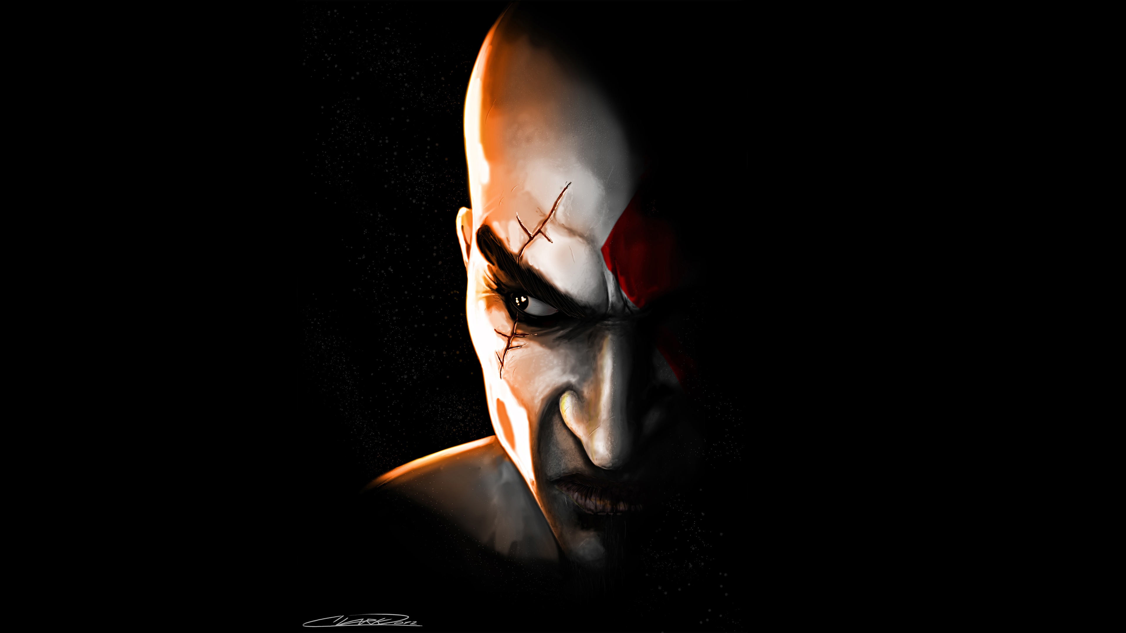 Kratos in god of war game hd games 4k wallpapers images - 4k wallpaper of god ...