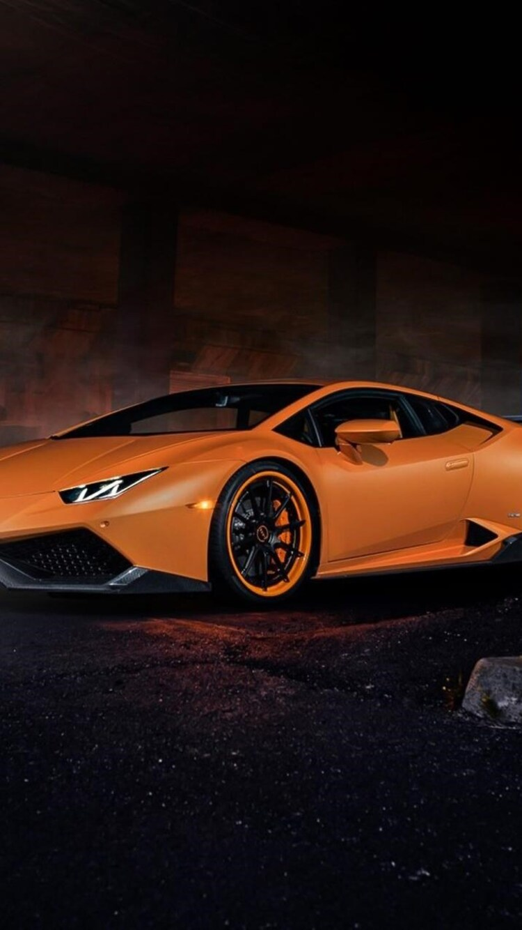 download lamborghini huracan orange hd 4k wallpapers in 750x1334 screen resol. Black Bedroom Furniture Sets. Home Design Ideas
