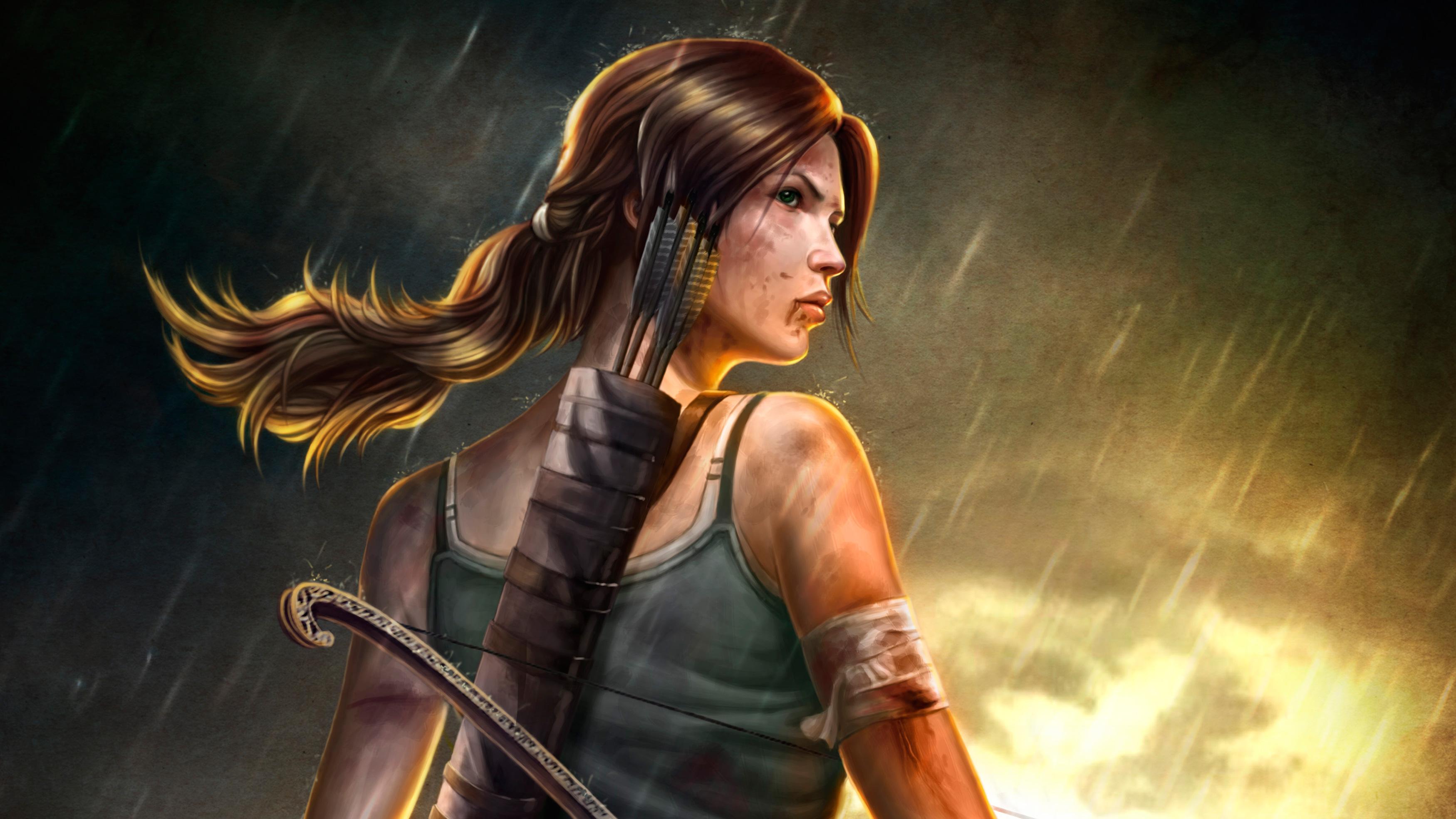 3840x2160 Lara Croft Tomb Raider Artwork 4k Hd 4k