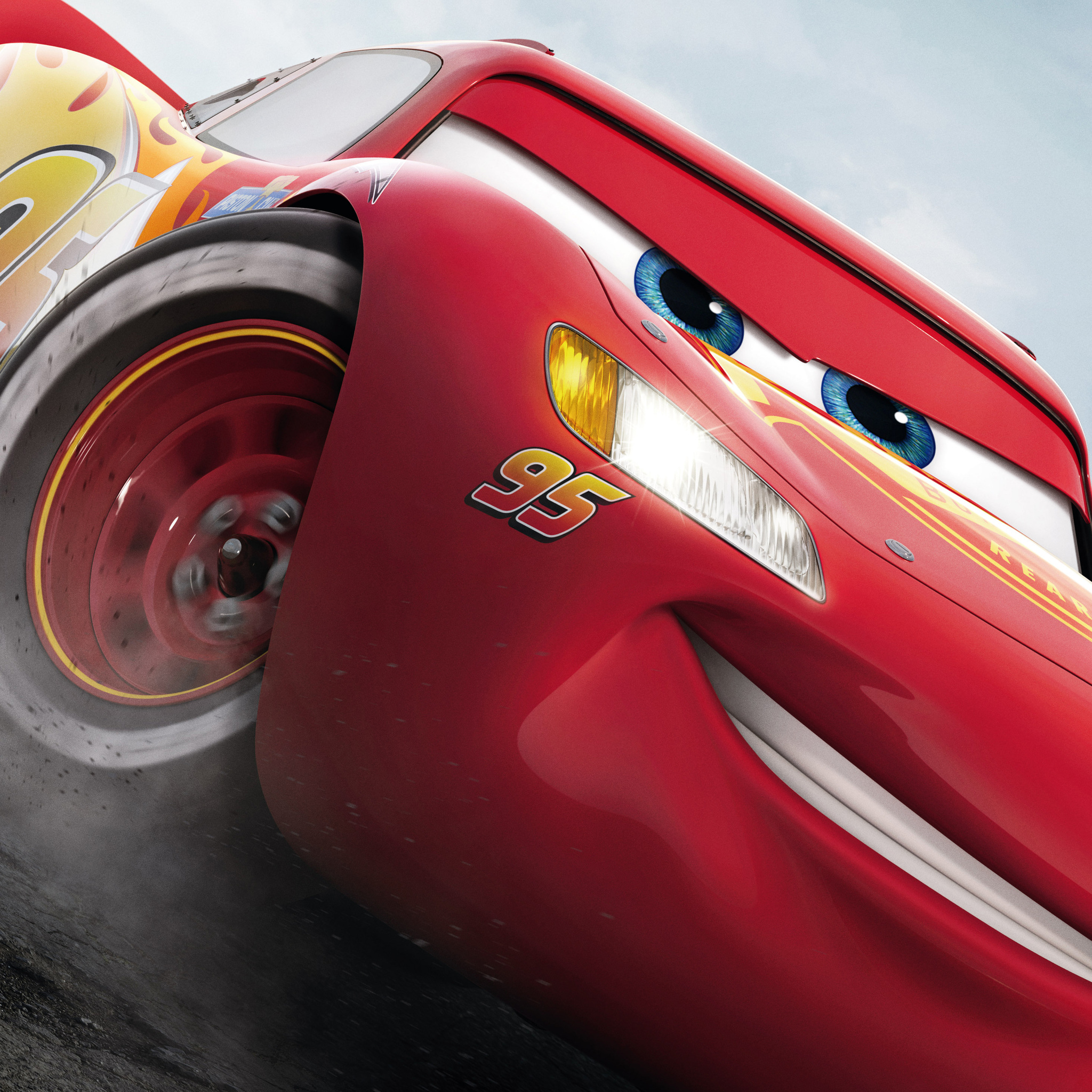 2048x2048 Lightning McQueen Cars 3 Ipad Air HD 4k