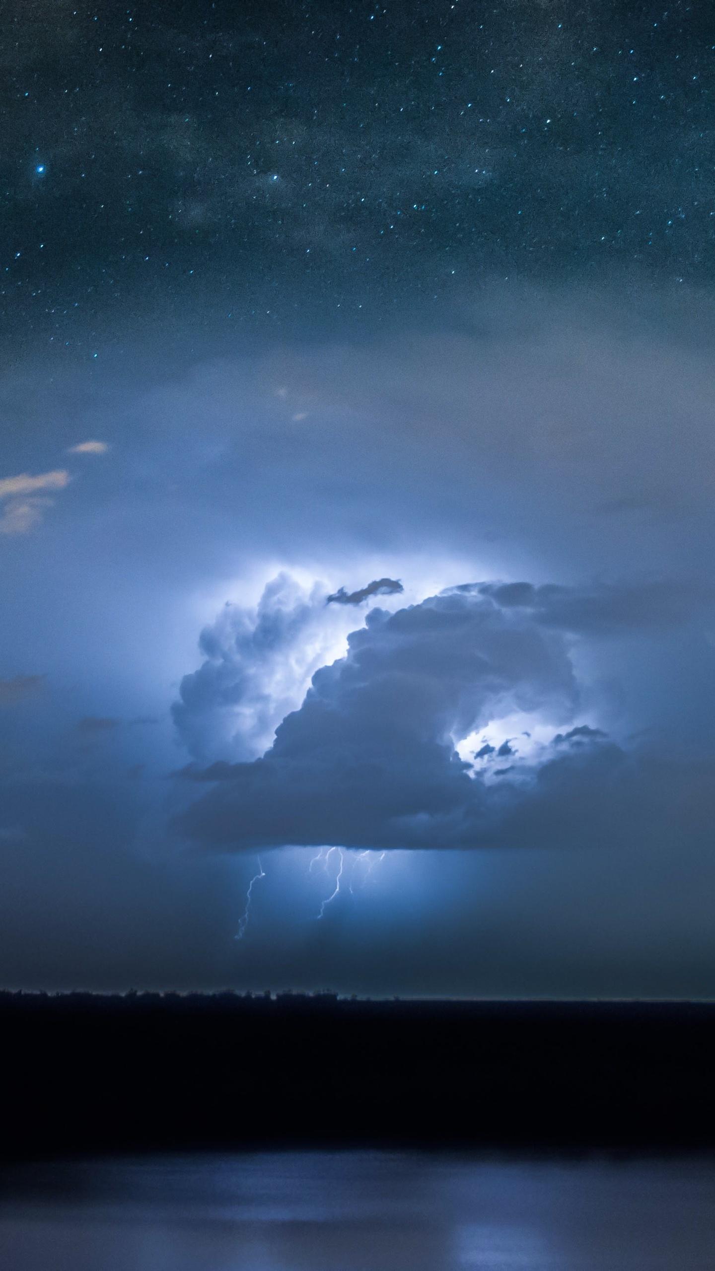 1440x2560 lightning thunder storm long exposure 4k samsung galaxy s6 s7 google pixel xl nexus - Lightning wallpaper 4k ...