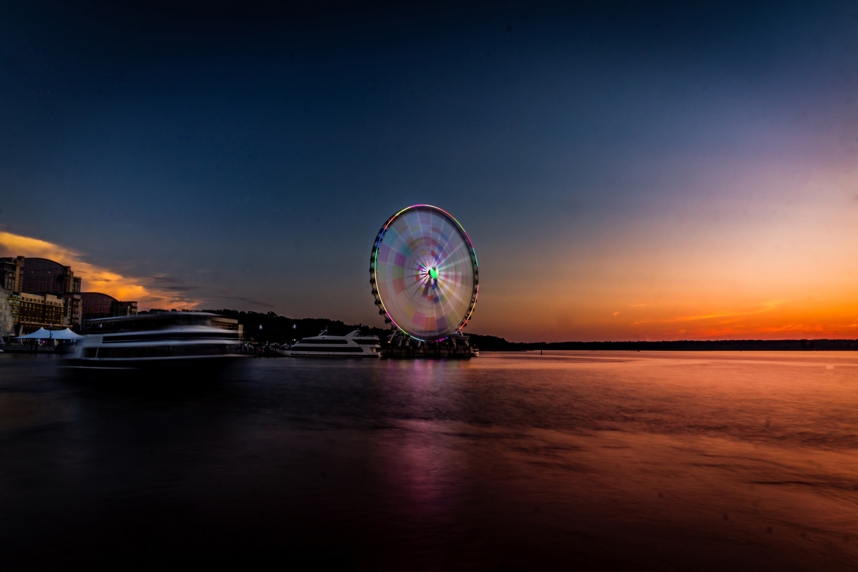 Samsung Galaxy Note 5 Hd Wallpaper: 1440x2960 Longexposure Beautiful Ferris Wheel 5k Samsung