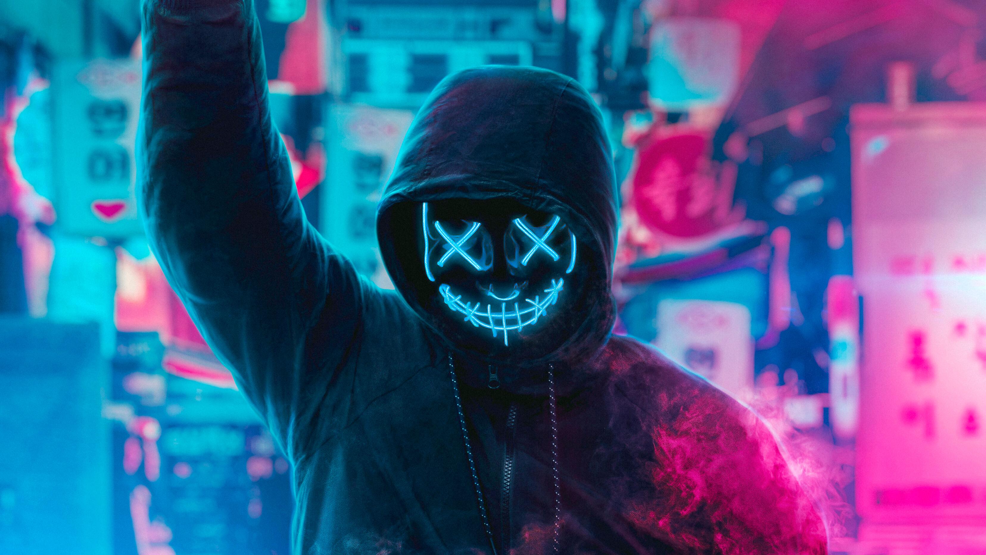 1280x1024 Mask Guy Neon Eye 1280x1024 Resolution HD 4k ...