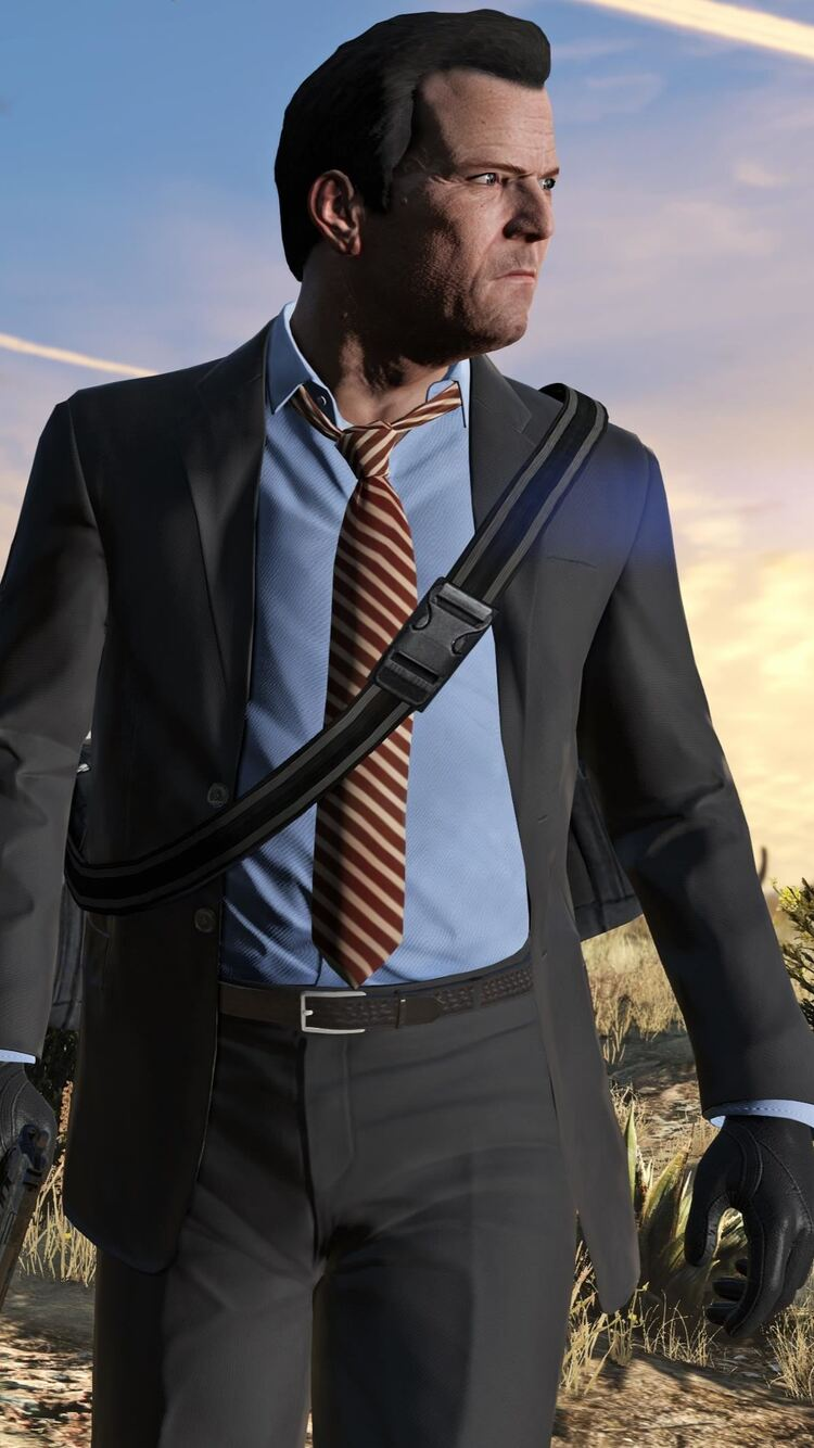 750x1334 Michael In GTA V iPhone 6, iPhone 6S, iPhone 7 HD 4k Wallpapers, Images, Backgrounds