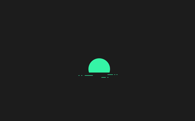 1920x1080 Minimalism Green Sunset Laptop Full HD 1080P HD ...