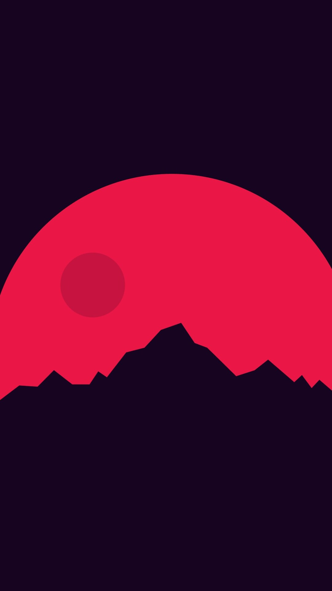 1080x1920 Minimalism Mountains Red Iphone 7,6s,6 Plus ...
