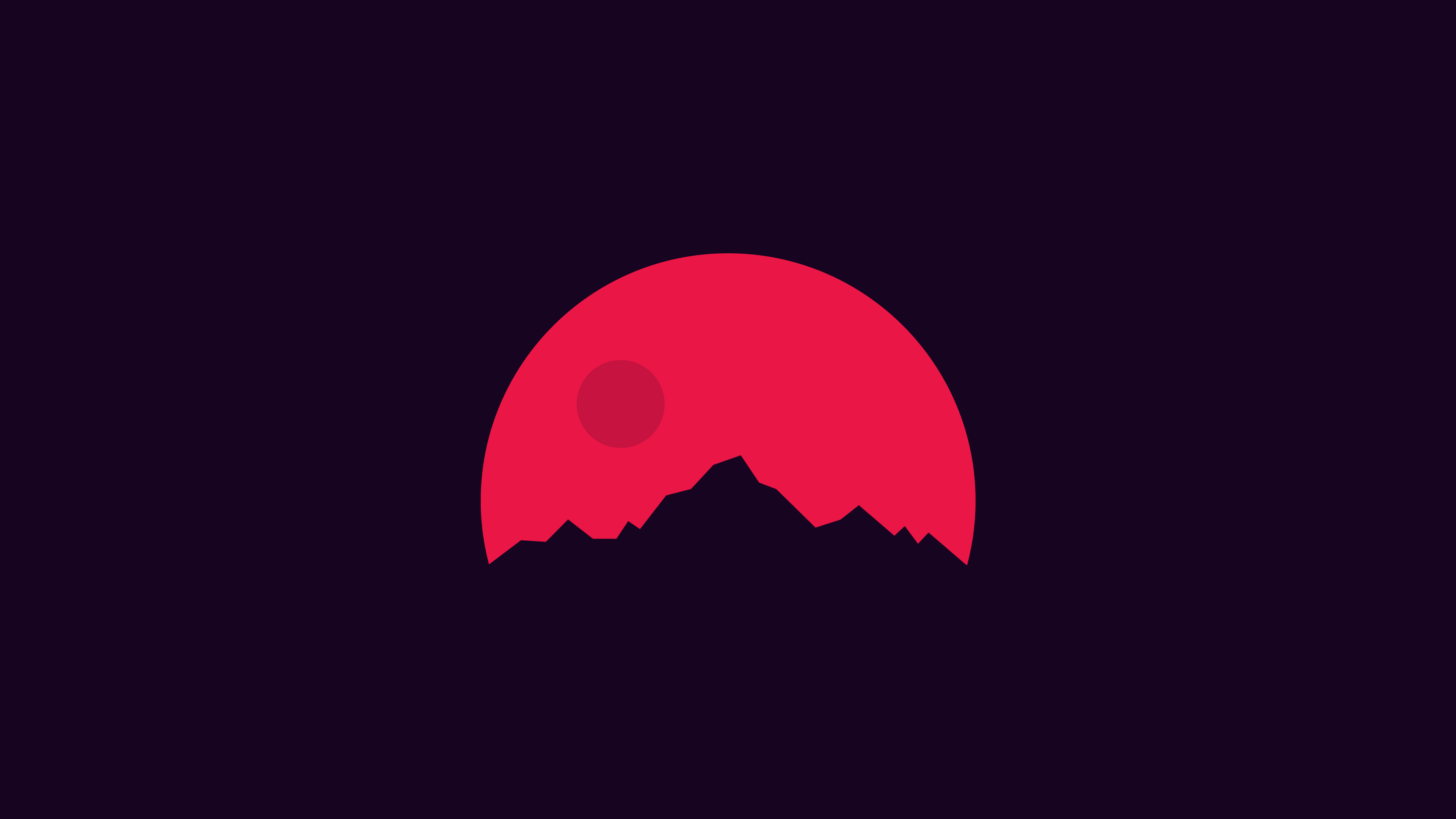 Minimalism Mountains Red, HD Artist, 4k Wallpapers, Images ...