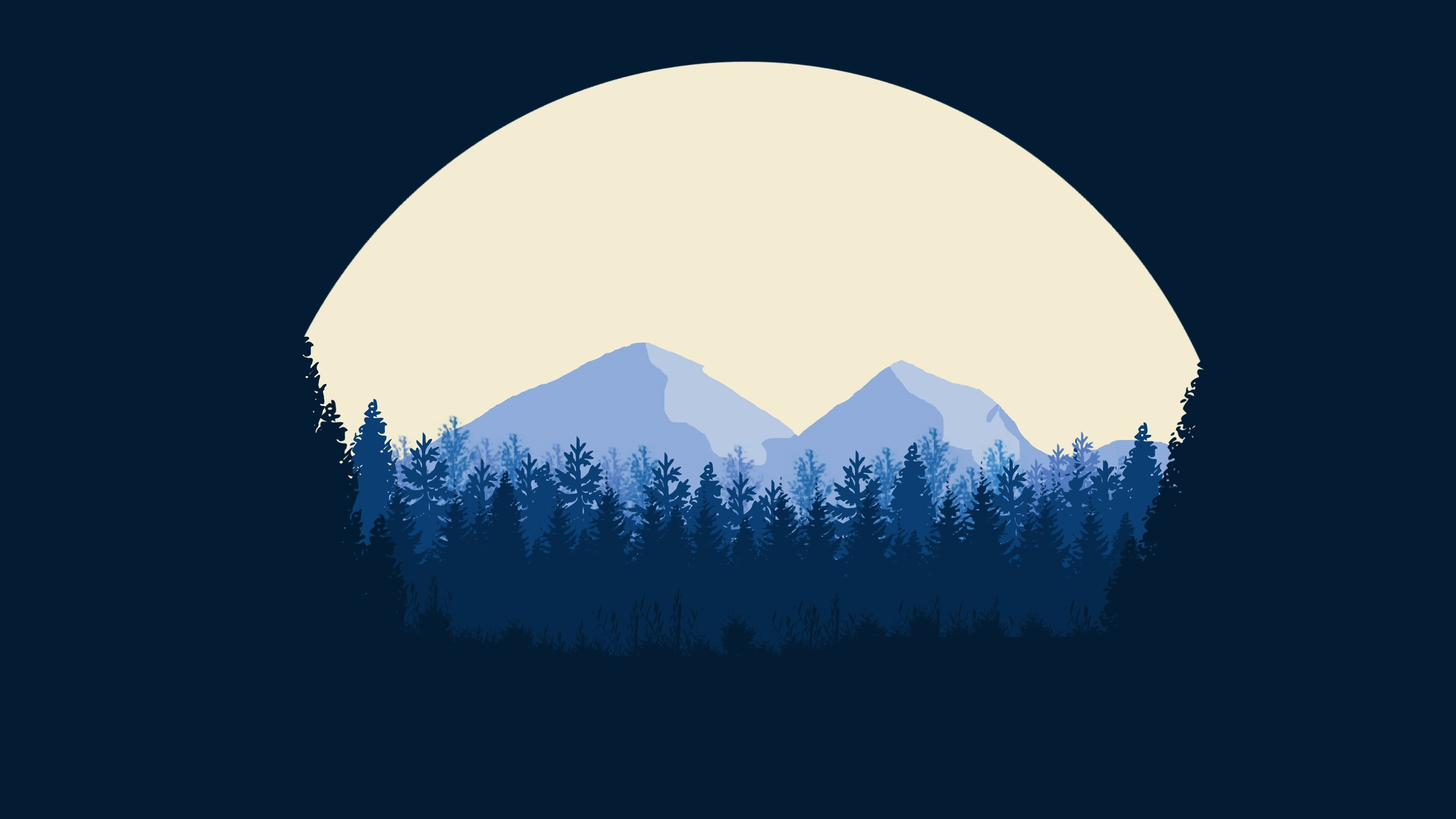 3840x2160 Minimalist Mountains 4k HD 4k Wallpapers, Images ...