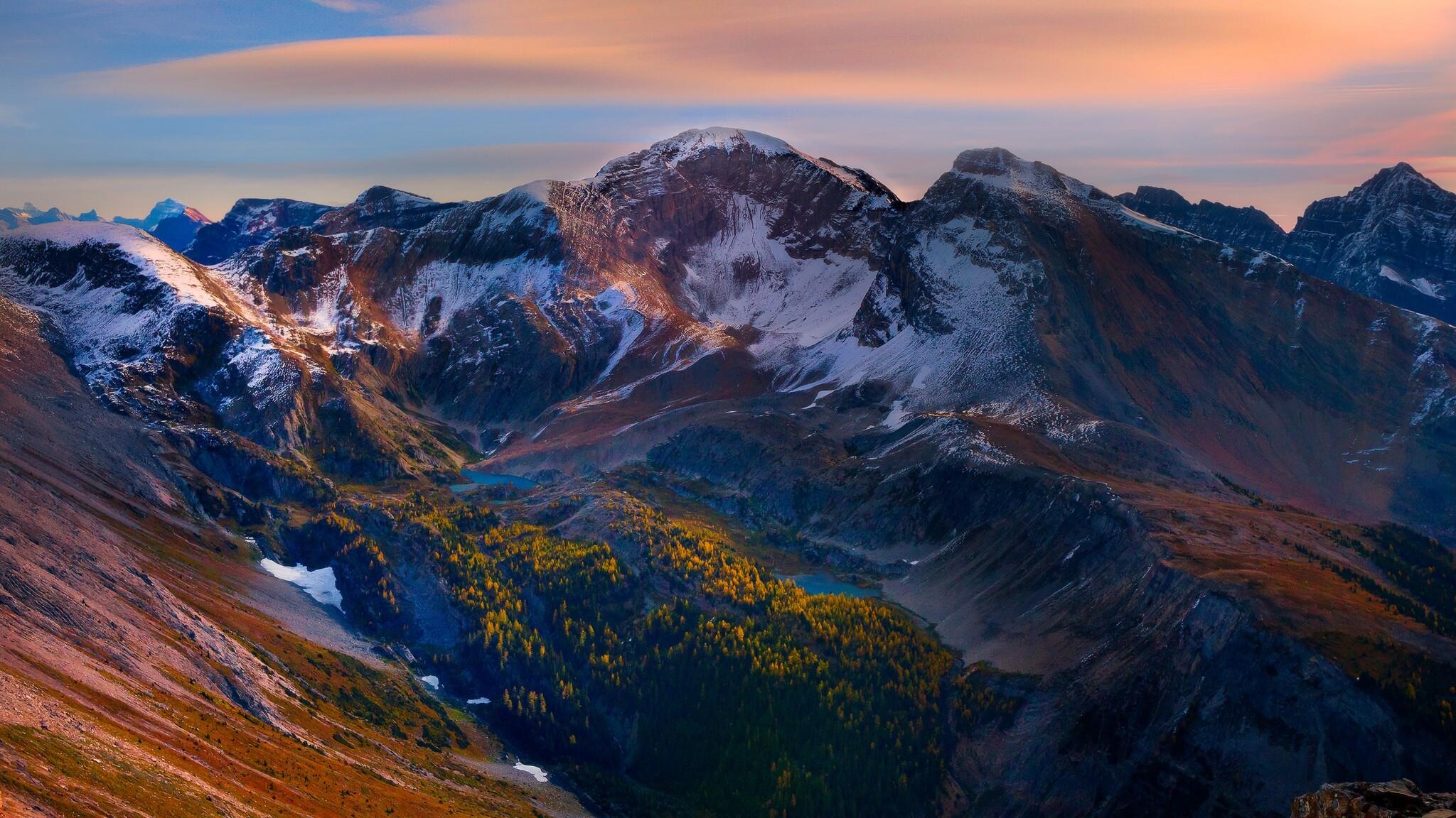 2048x1152 Mountain Peaks Beautiful Scenery 2048x1152 ...