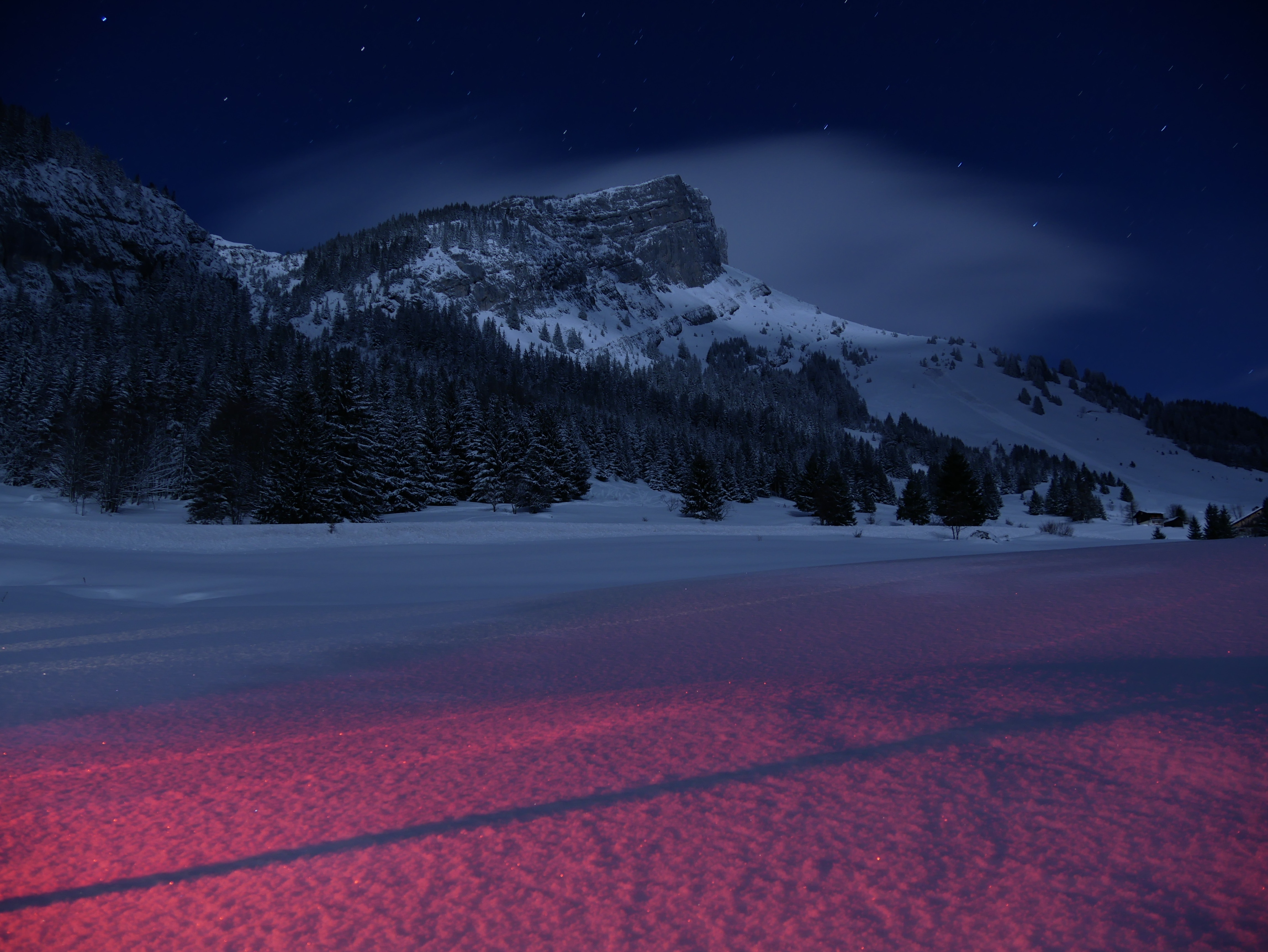 Mountains landscape night snow 5k hd nature 4k - Wallpapers 1280x800 nature ...