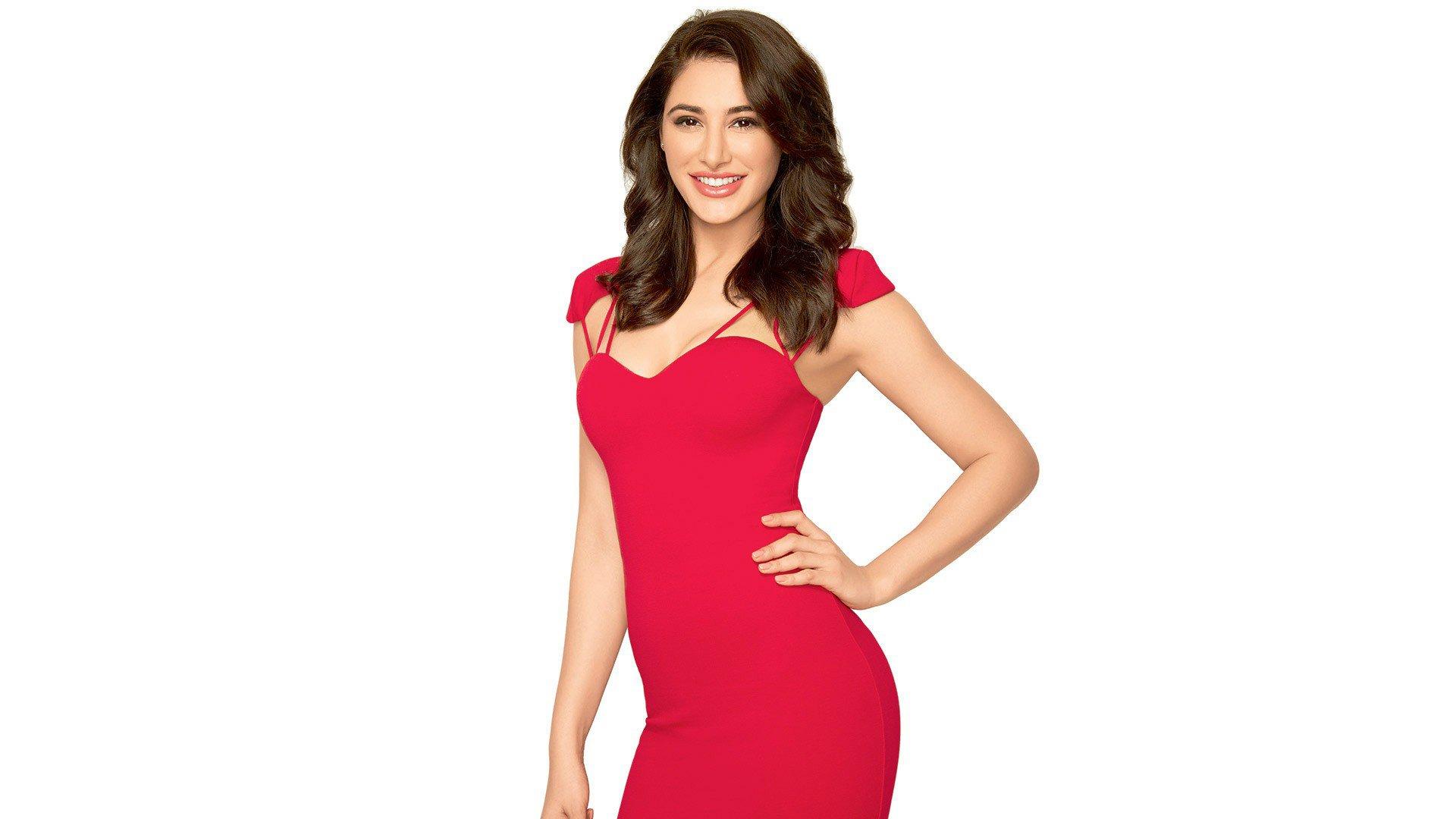 Celebrities Hd Wallpaper Download Nargis Fakhri Hd: Nargis Fakhri In Red Dress, HD Indian Celebrities, 4k