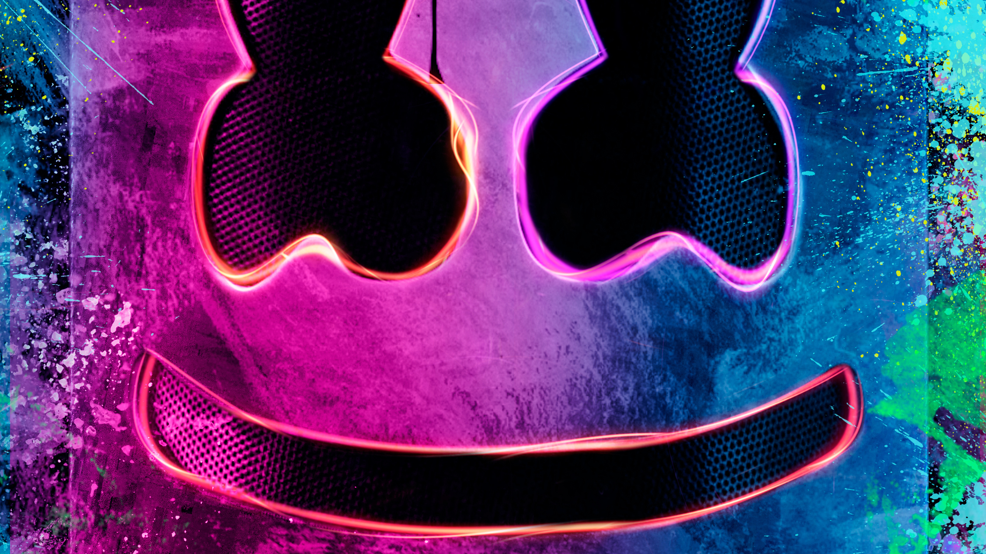 Neon marshmello helmet hd music 4k wallpapers images backgrounds photos and pictures - Descargar fotos hd 1080p ...