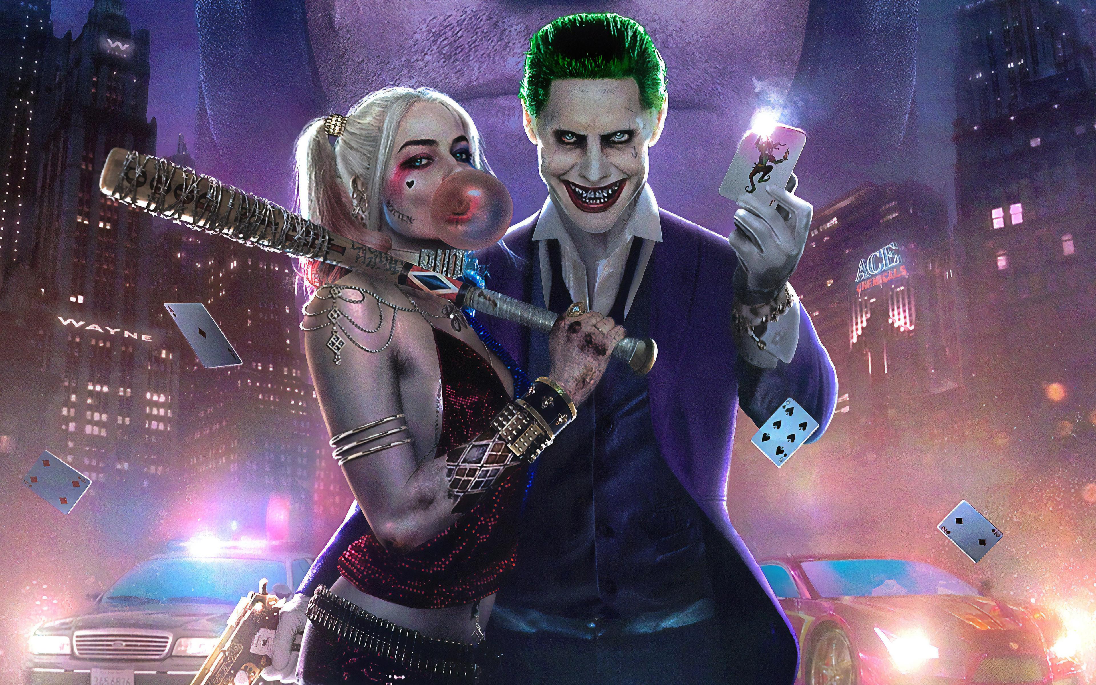 3840x2400 New Joker Harley Quinn 4k HD 4k Wallpapers ...