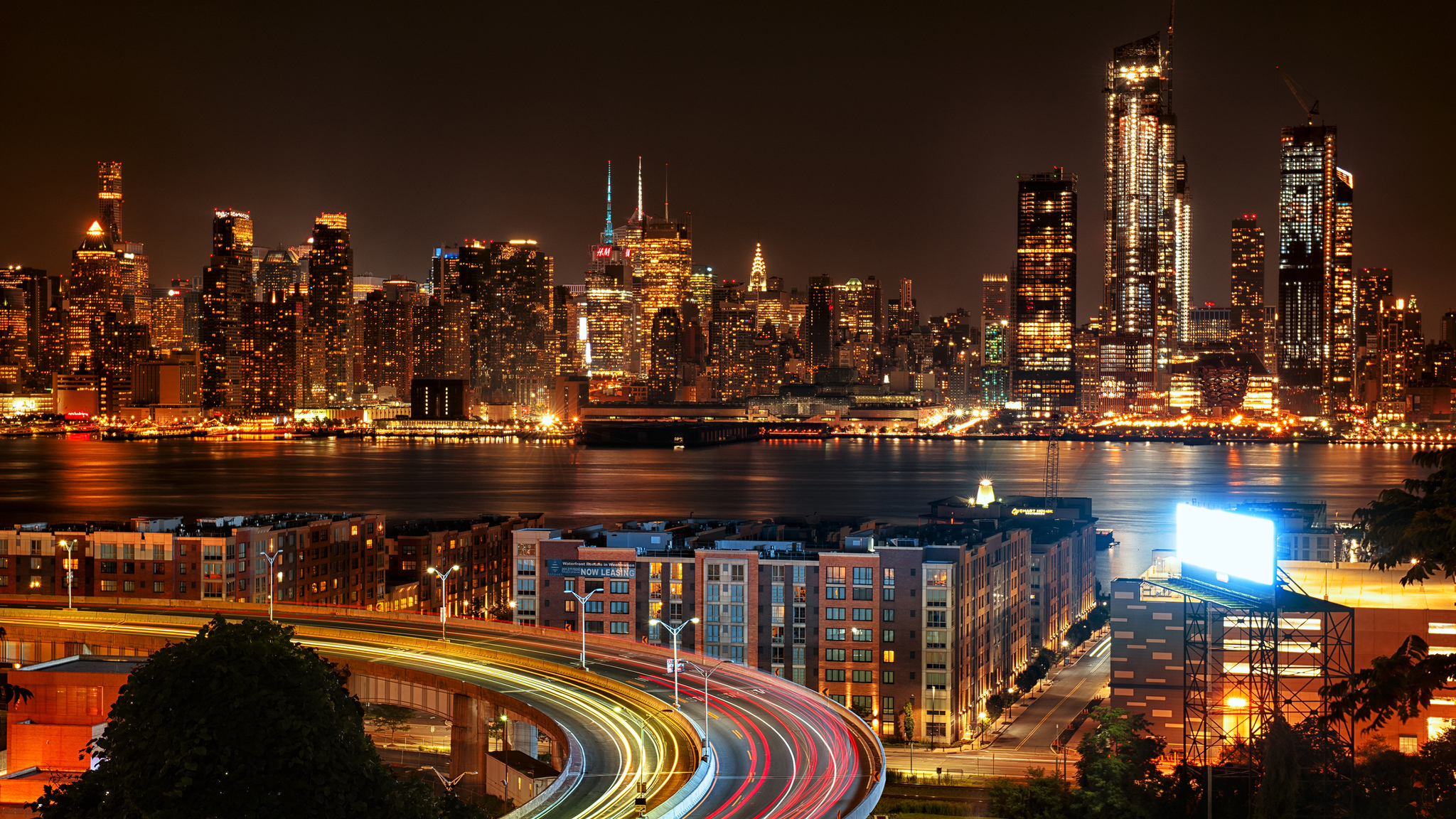 2048x1152 New York City View From New Jersey 4k At Night ...