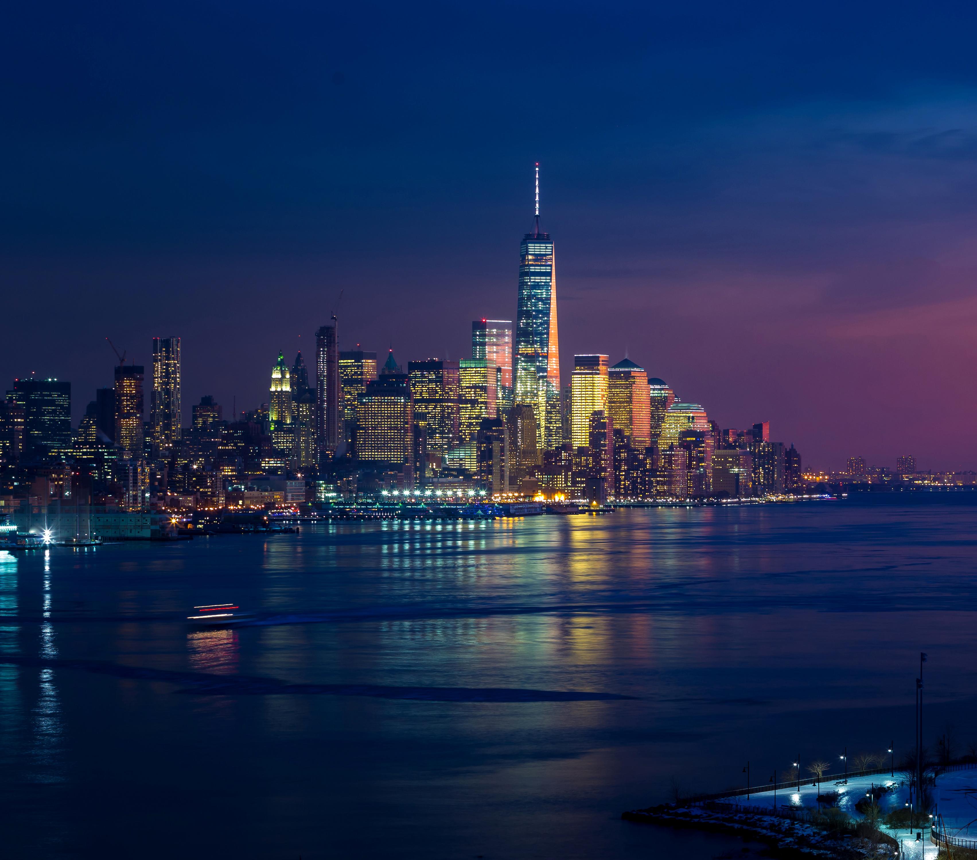 1920x1080 New York Skycrapper 4k Buildings Lights Laptop
