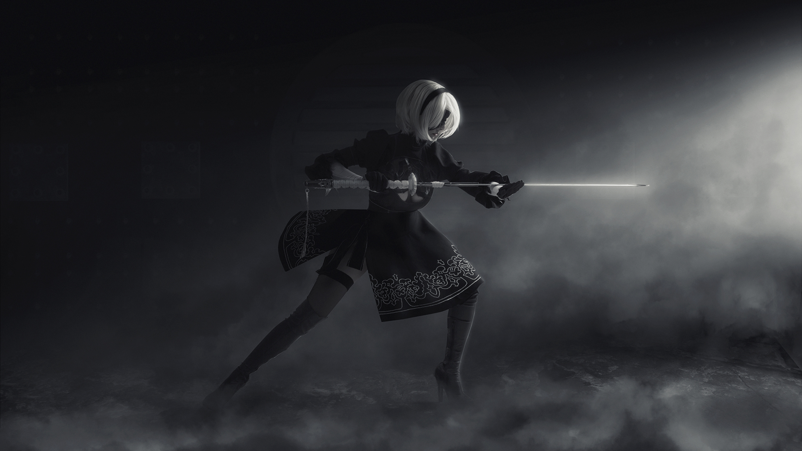 Nier Automata Wallpapers Or Desktop Backgrounds: 2560x1440 Nier Automata Cosplay 1440P Resolution HD 4k