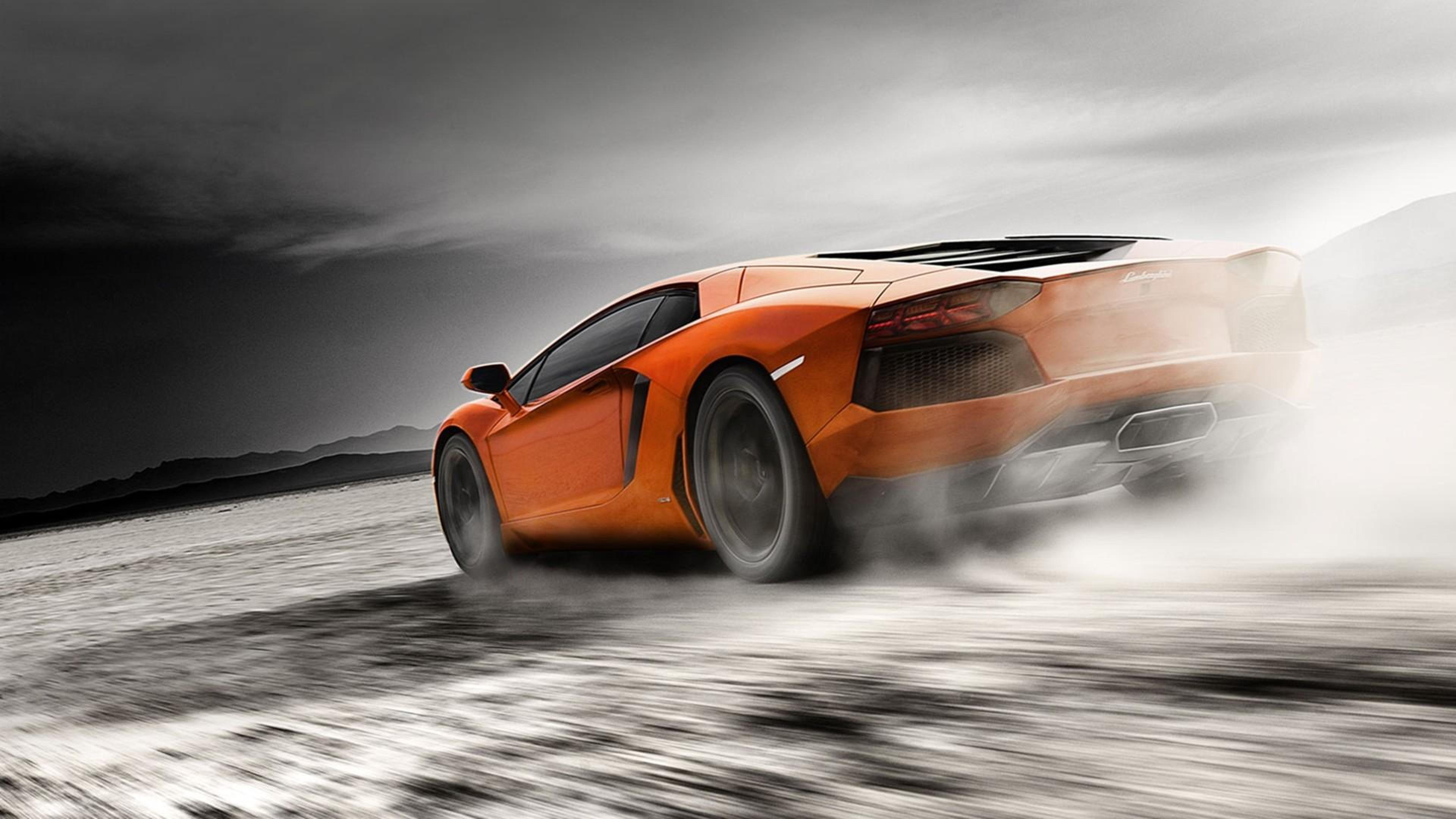 Orange Lamborghini Aventador, HD Cars, 4k Wallpapers ...