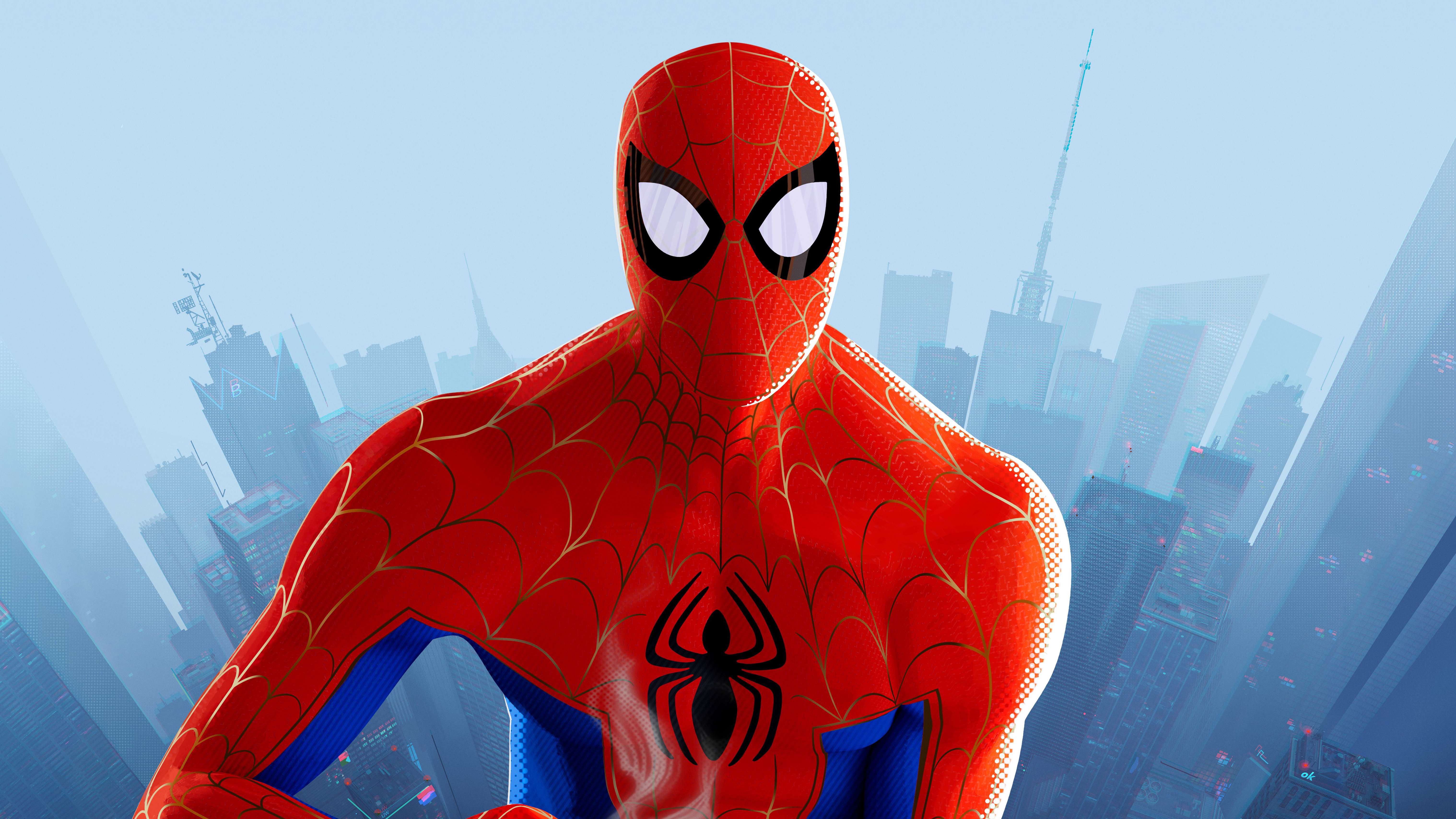 1280x2120 Pubg Game Girl Fanart Iphone 6 Hd 4k Wallpapers: 1280x2120 Peter Parker In SpiderMan Into The Spider Verse
