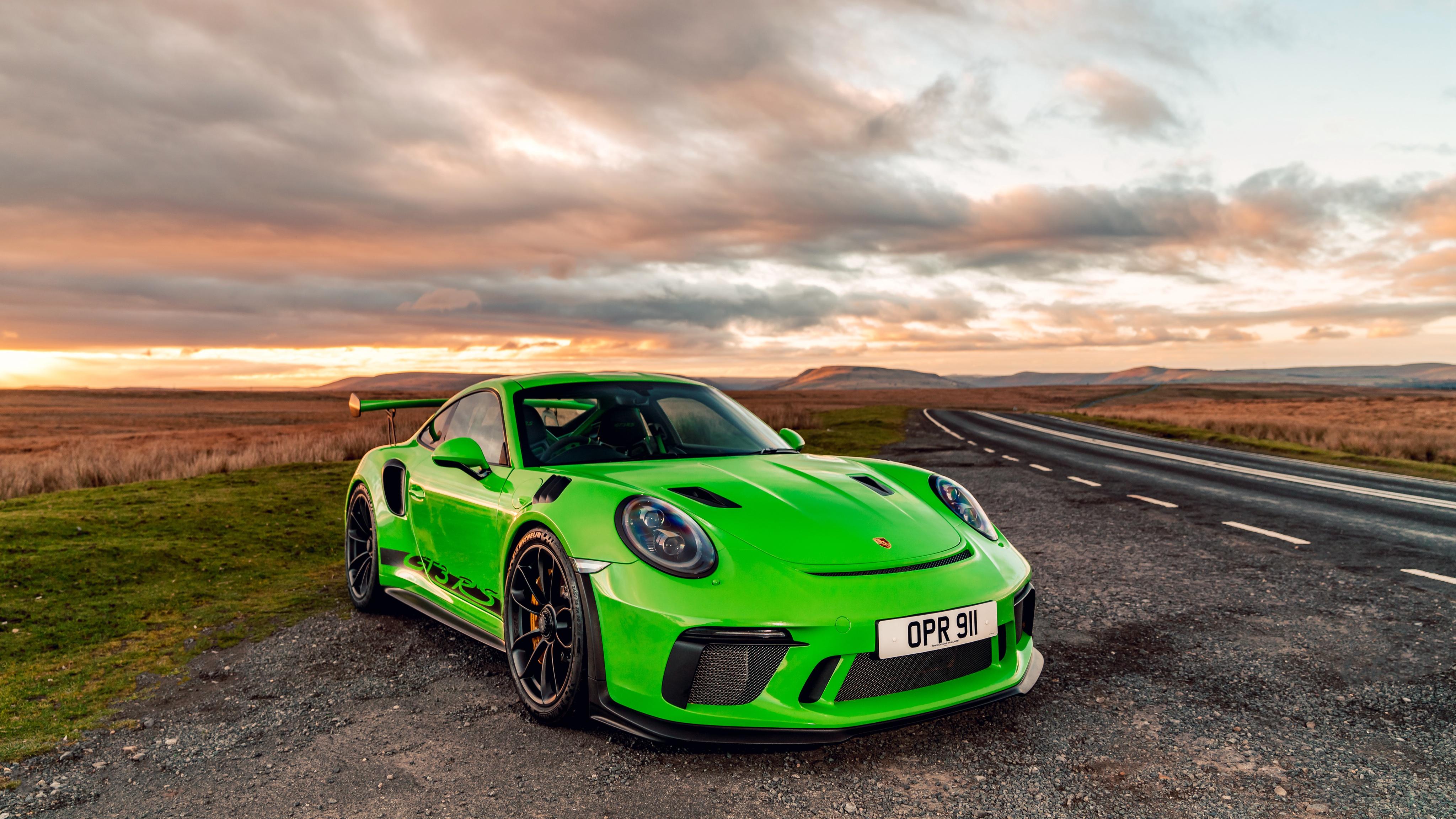 Porsche 911 2018 GT3 RS Green, HD Cars, 4k Wallpapers ...