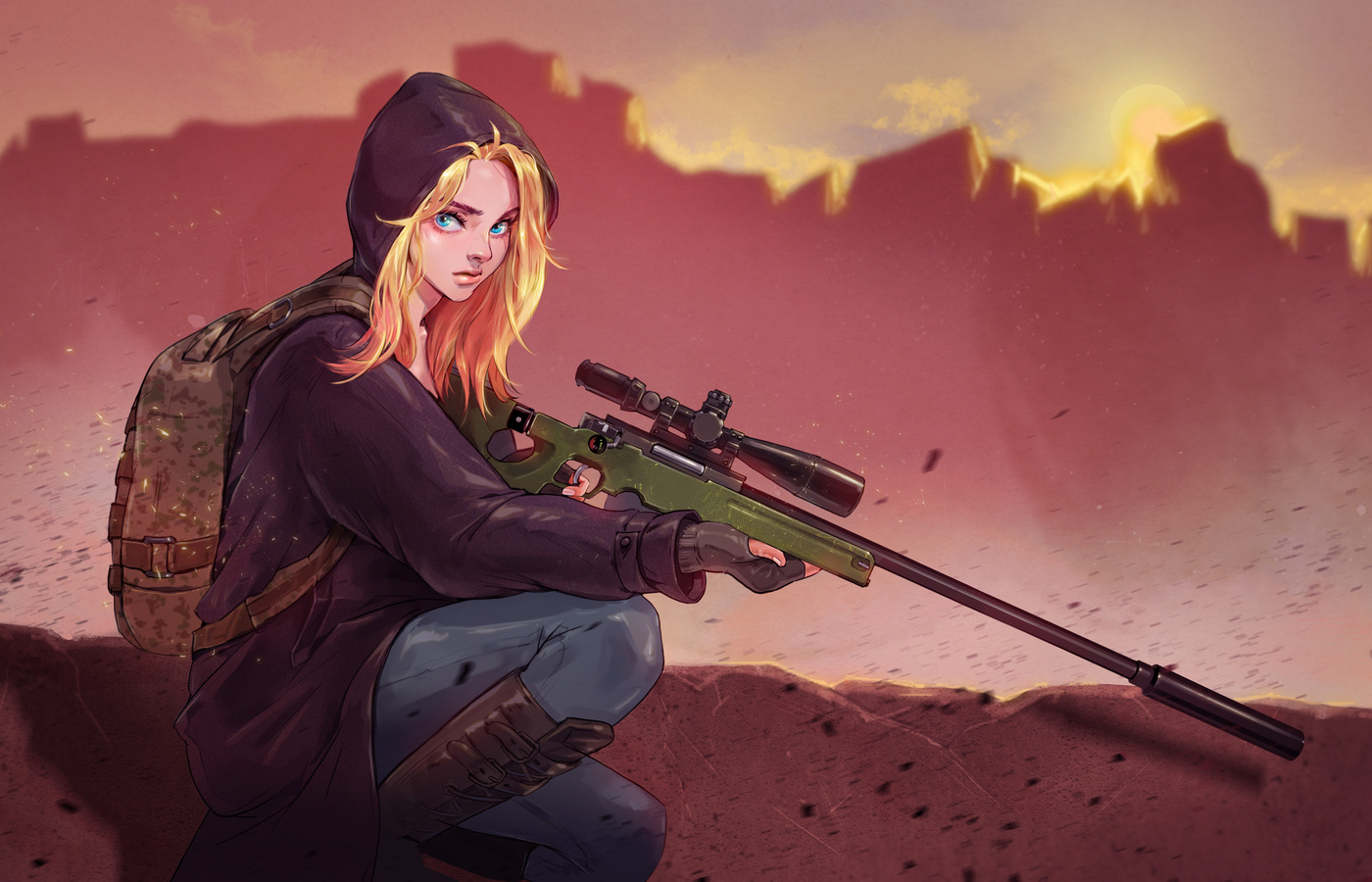 Download Wallpaper Animasi Pubg: 1400x900 Pubg Game Girl Fanart 1400x900 Resolution HD 4k