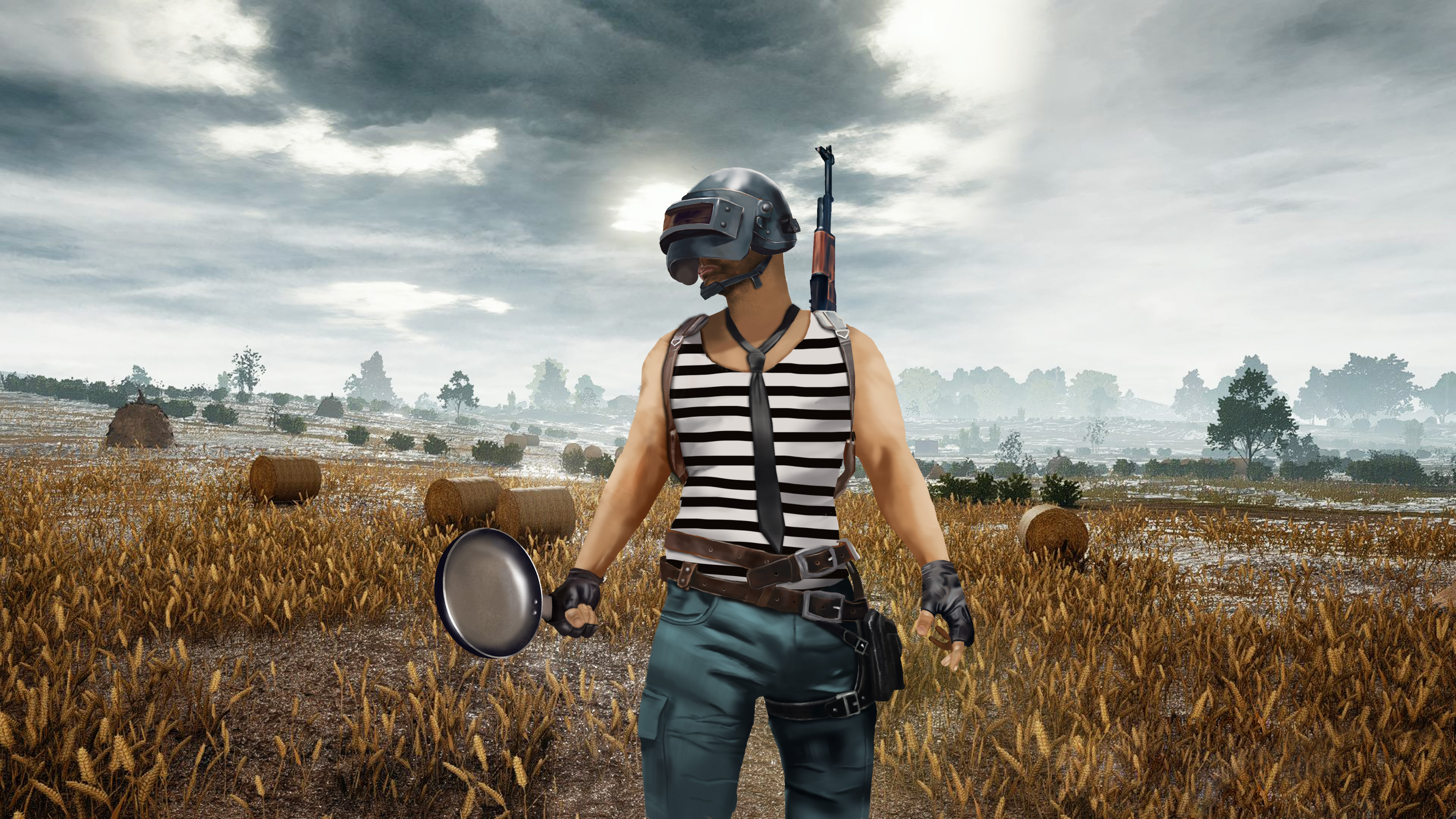 2048x1152 Pubg Bike Rider 4k 2048x1152 Resolution Hd 4k: PUBG Helmet And Pan Player, HD Games, 4k Wallpapers