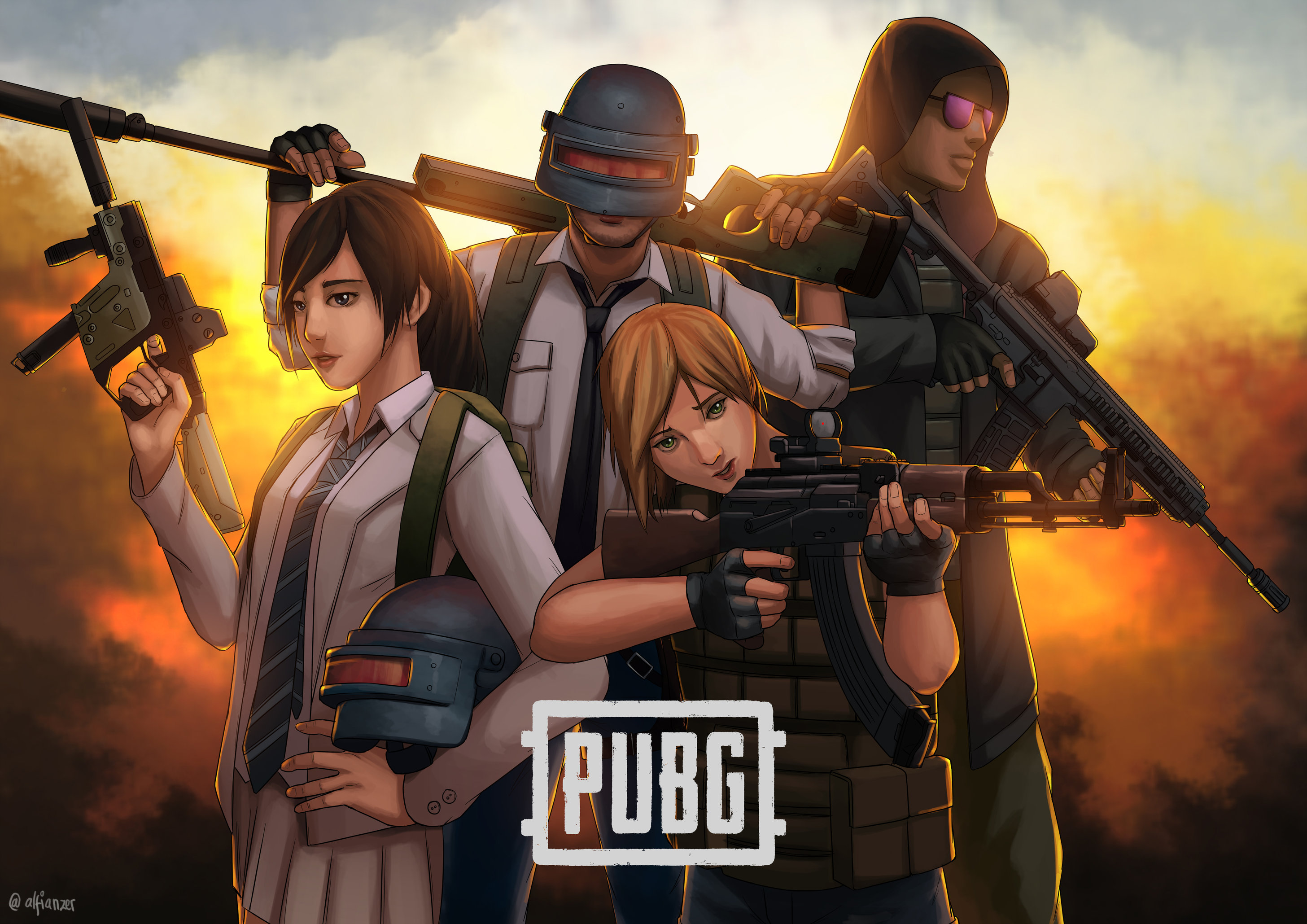 1920x1080 Pubg Squad Art Laptop Full HD 1080P HD 4k