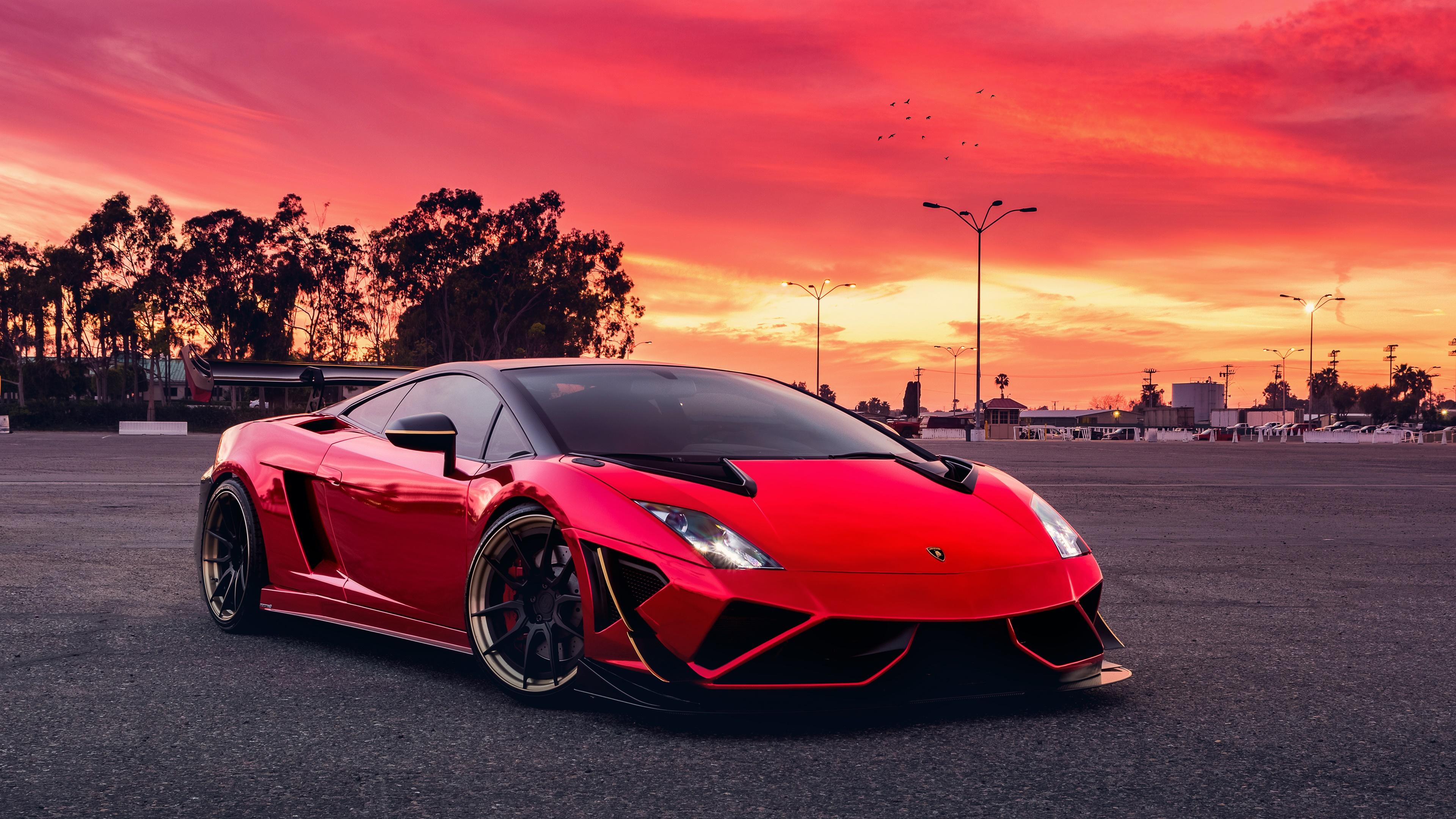 Red lamborghini gallardo hd cars 4k wallpapers images - Car 4k wallpaper ...