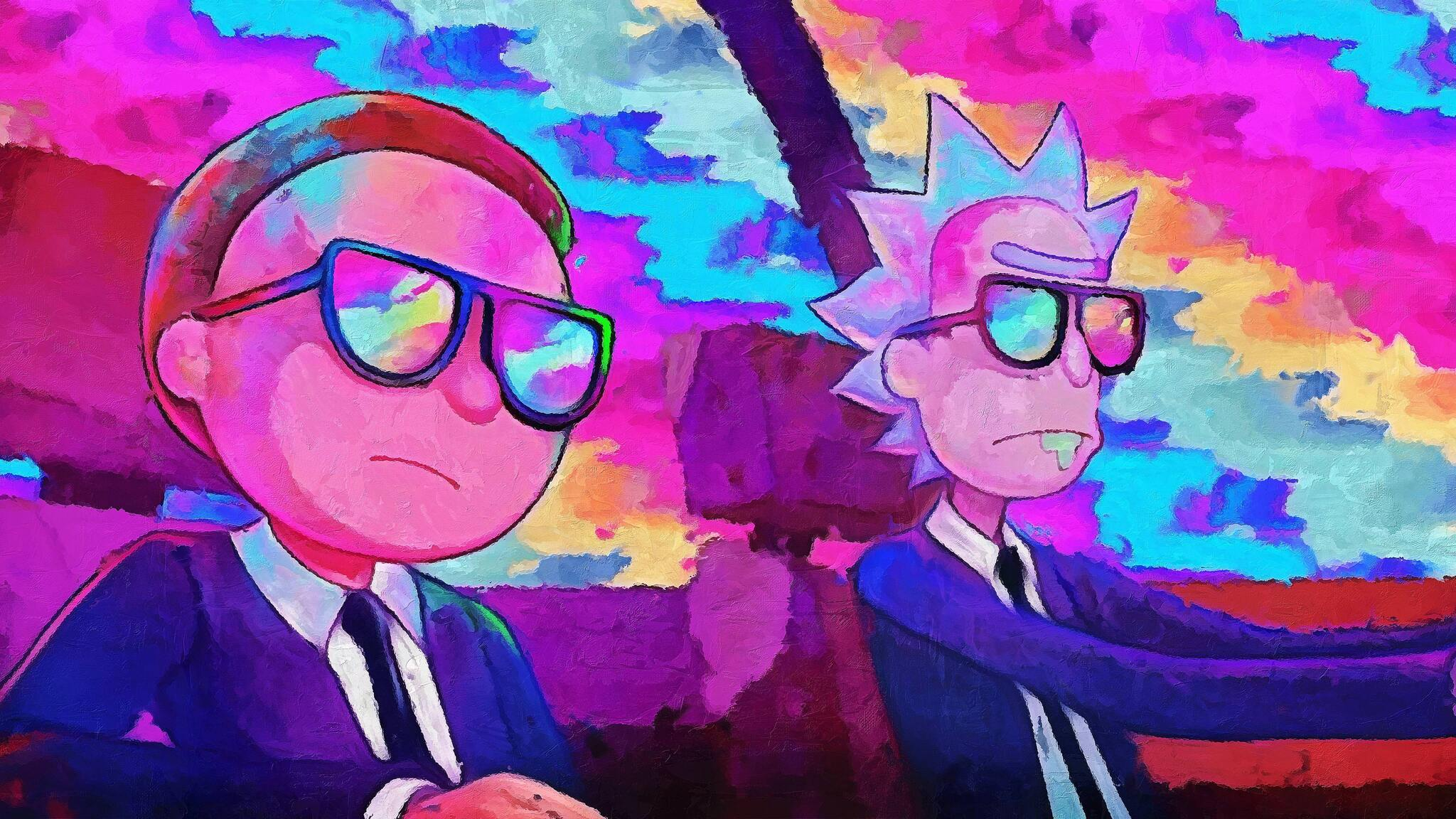 2048x1152 rick and morty 5k artwork 2048x1152 resolution - Evil morty wallpaper 4k ...