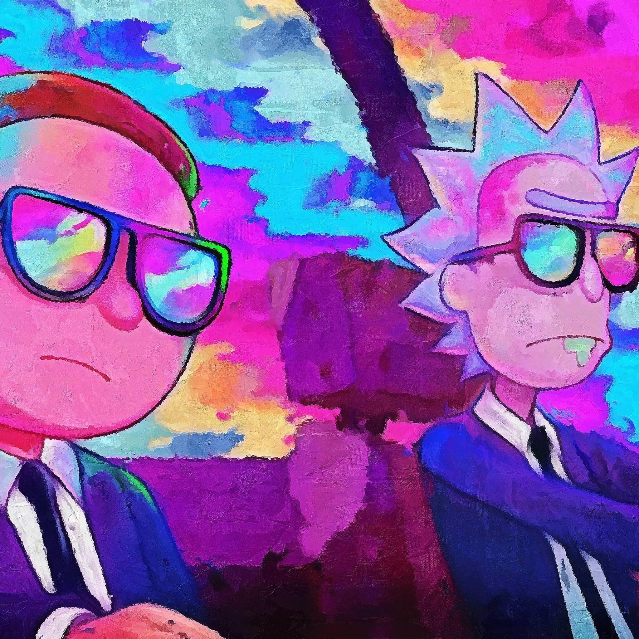2048x2048 Rick And Morty 5k Artwork Ipad Air HD 4k ...