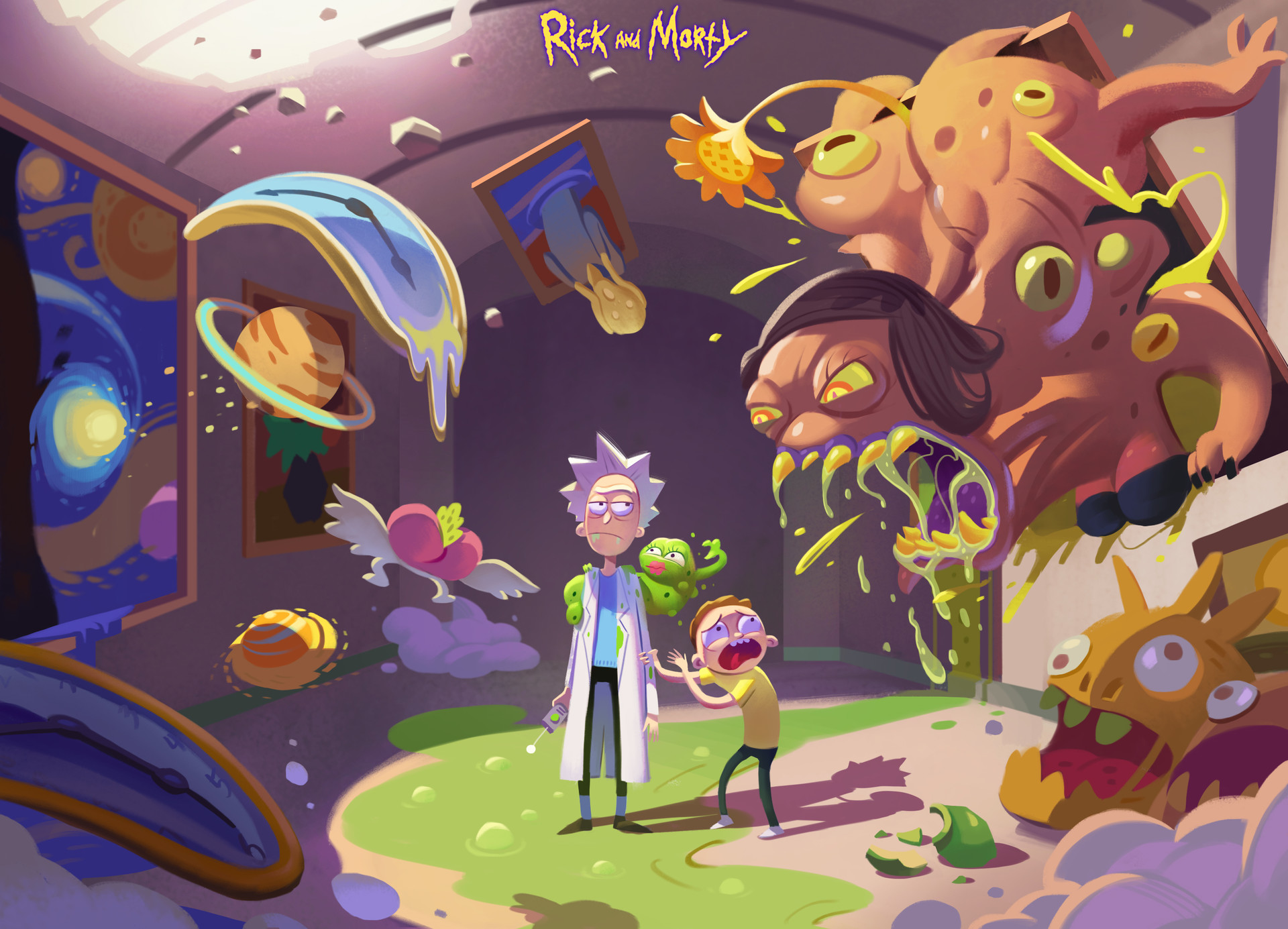 1336x768 rick and morty hd art laptop hd hd 4k wallpapers images backgrounds photos and pictures - Rick and morty download ...