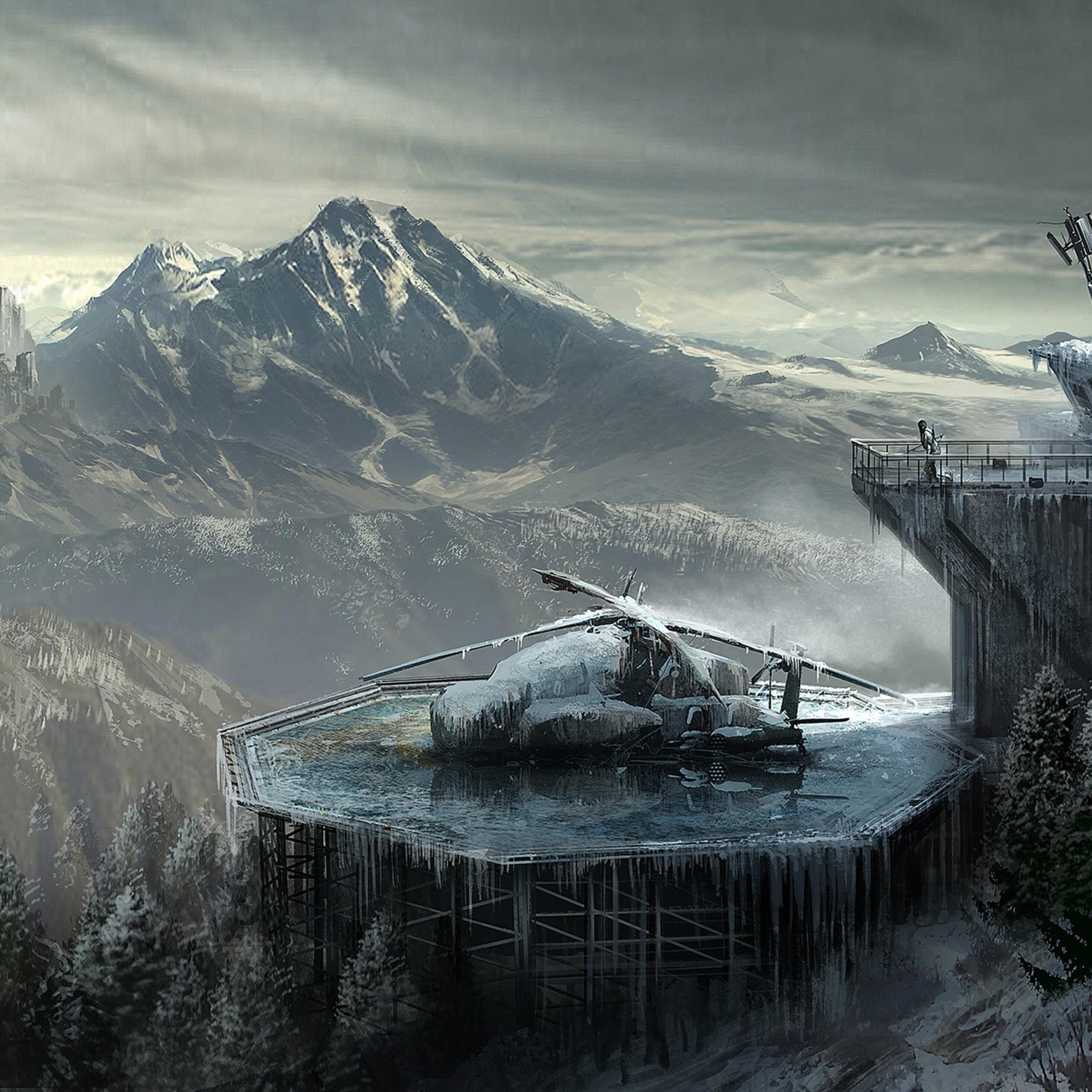 Rise Of The Tomb Raider 2015 4k Hd Desktop Wallpaper For: 2932x2932 Rise Of The Tomb Raider Concept Art Ipad Pro