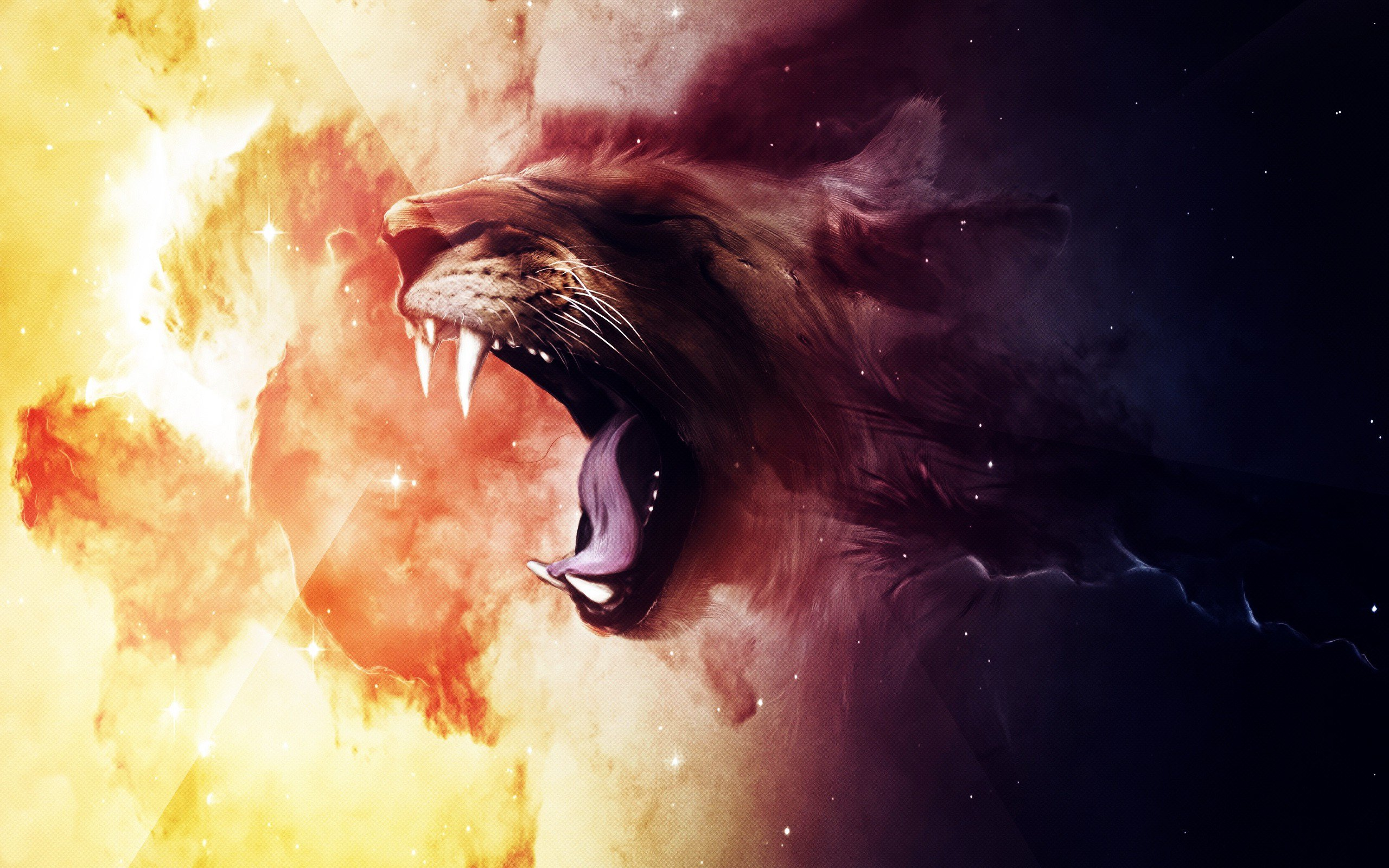 Lion Roaring Wallpaper Widescreen Download