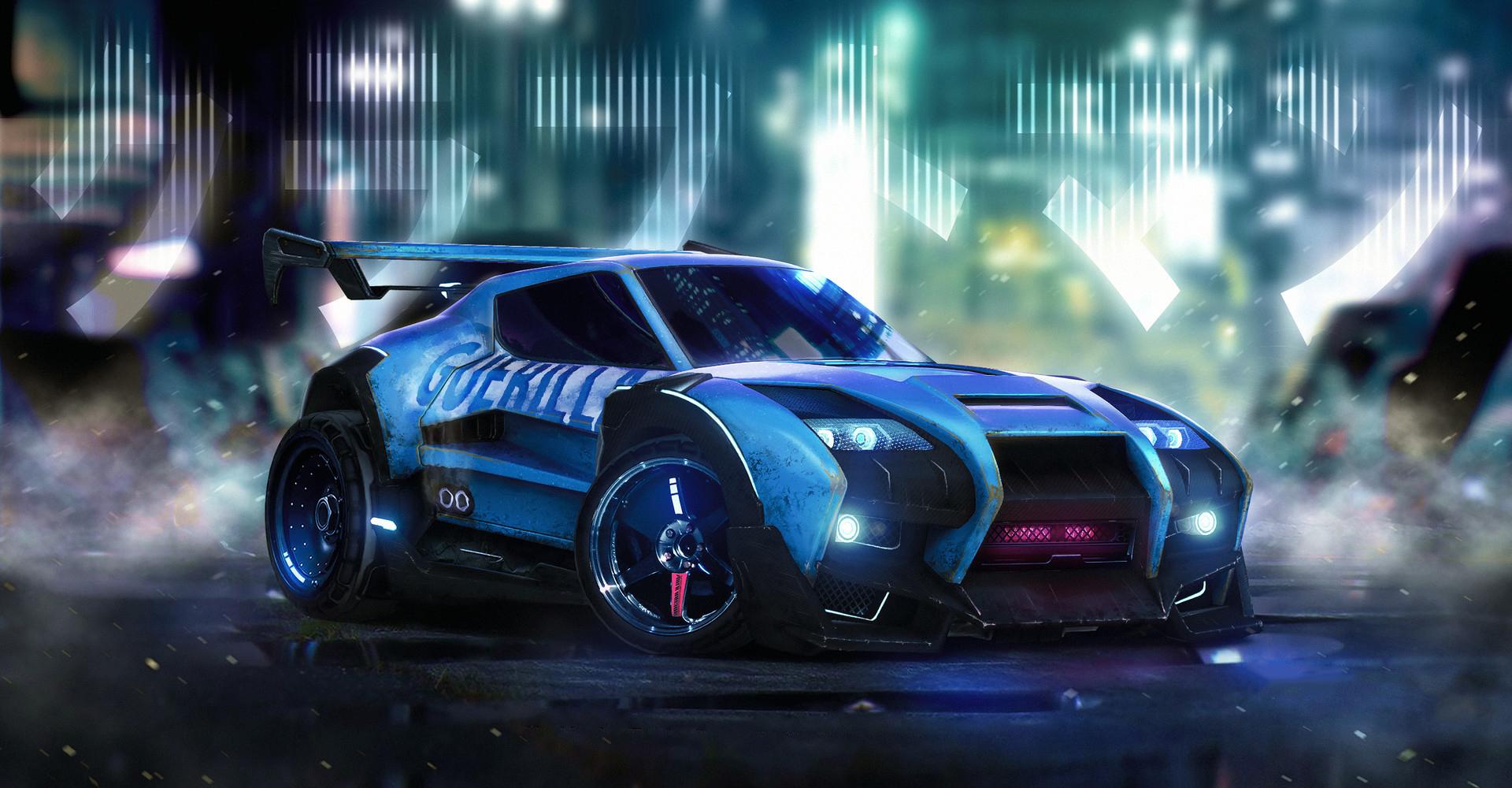 Rocket League Car Artwork, HD Games, 4k Wallpapers, Images