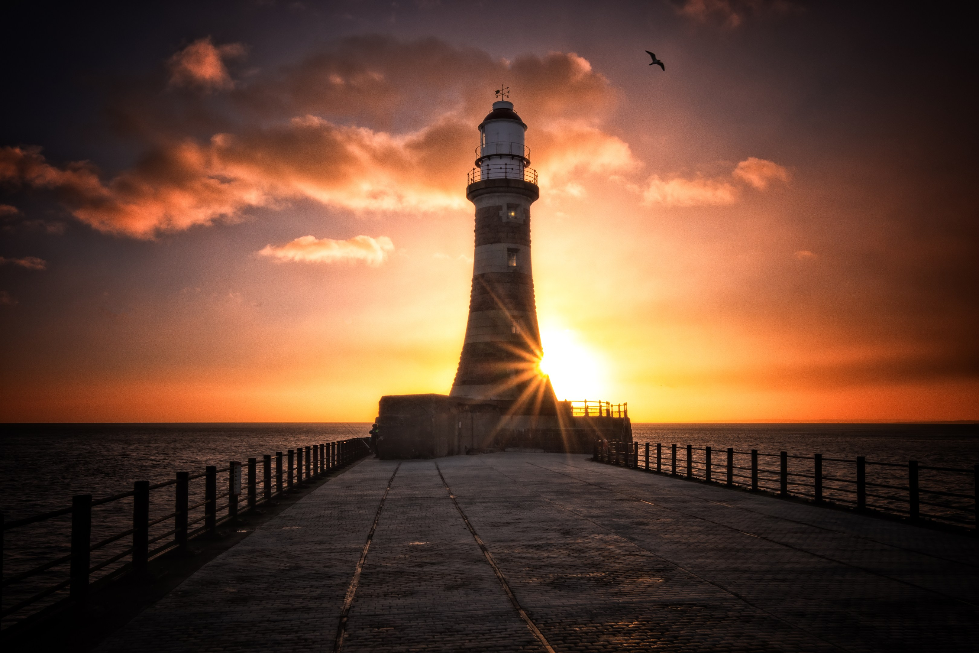 Roker Lighthouse, HD Nature, 4k Wallpapers, Images